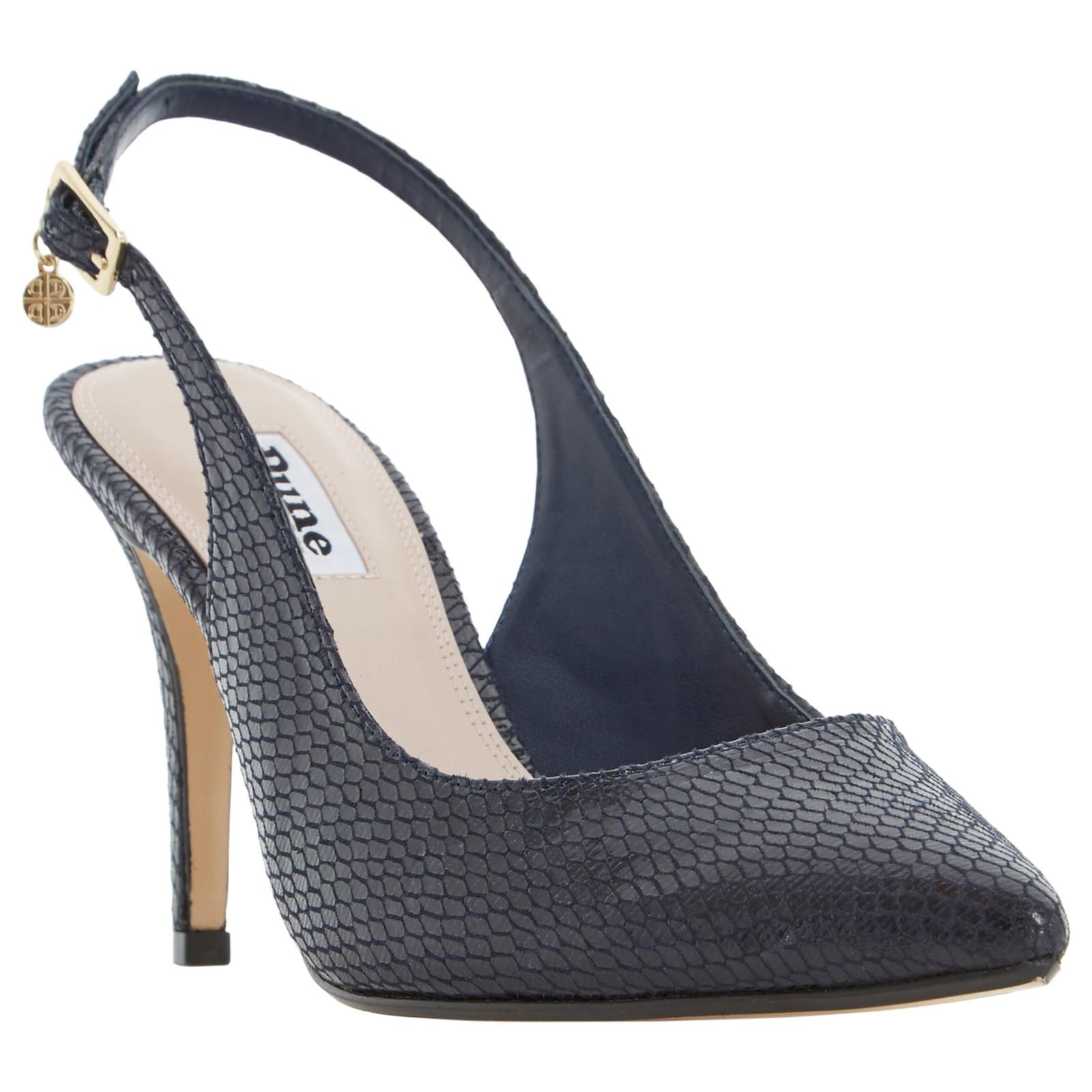 a18a513067 Dune Cathy Slingback High Heel Court Shoes in Blue - Lyst