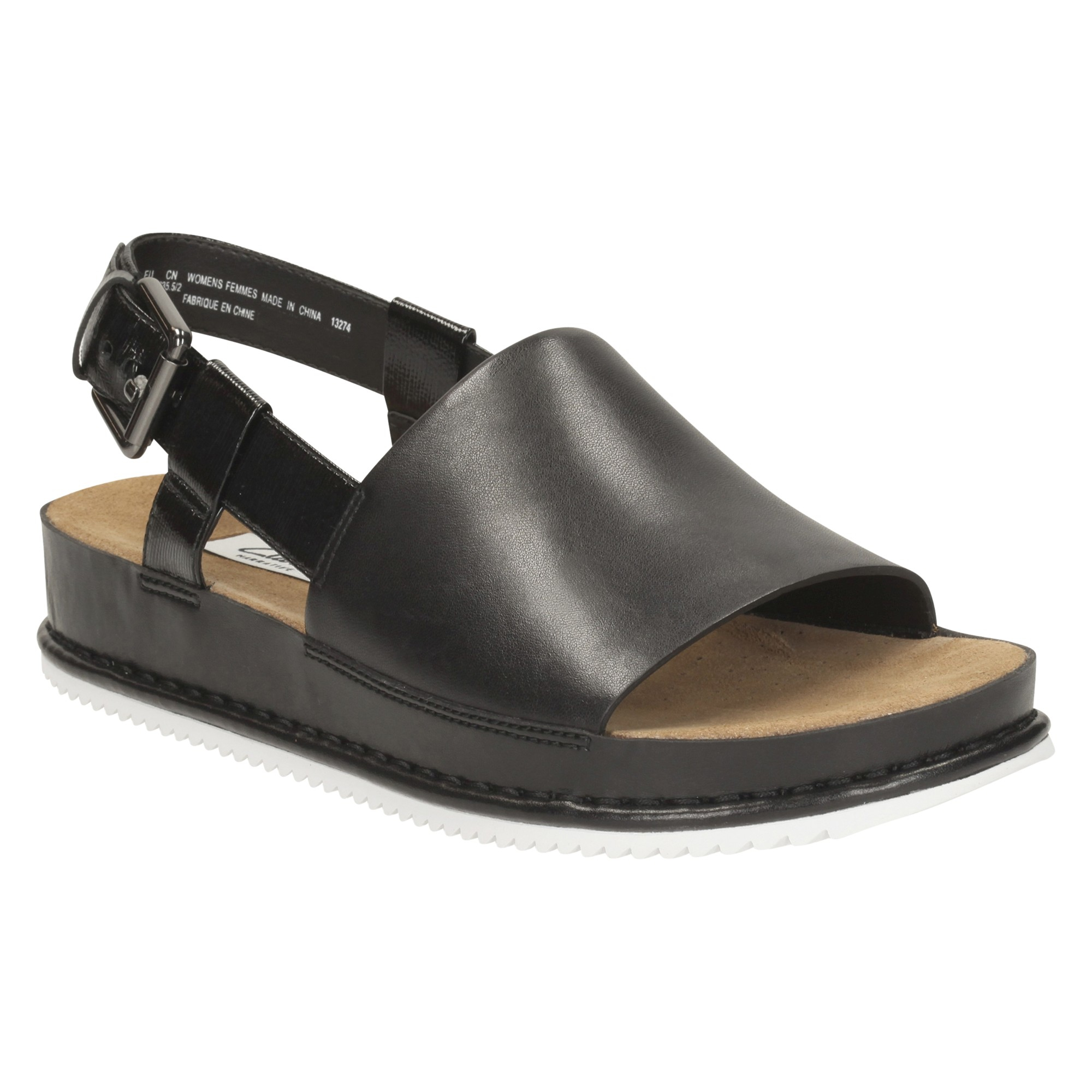 dc45196af044 Clarks Alderlake May Flatform Sandals in Black - Lyst