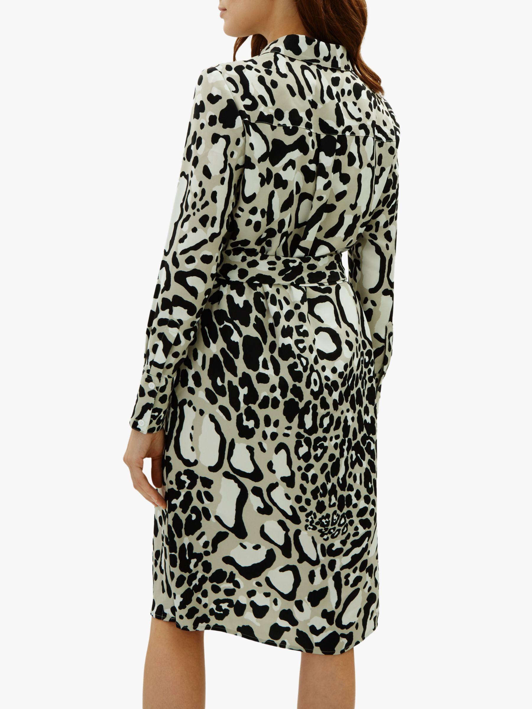 Jaeger - Multicolor Leopard Print Dress - Lyst. View fullscreen c14b6d6ea