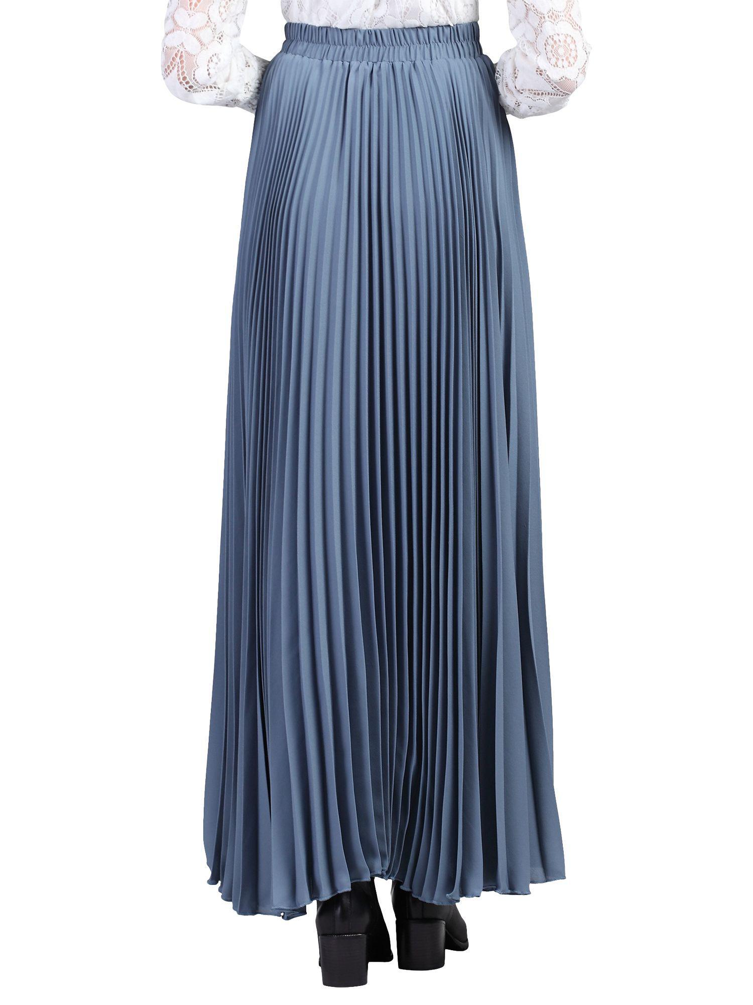 2b48ab1e59 Jolie Moi Pleated Crepe Maxi Skirt in Gray - Lyst