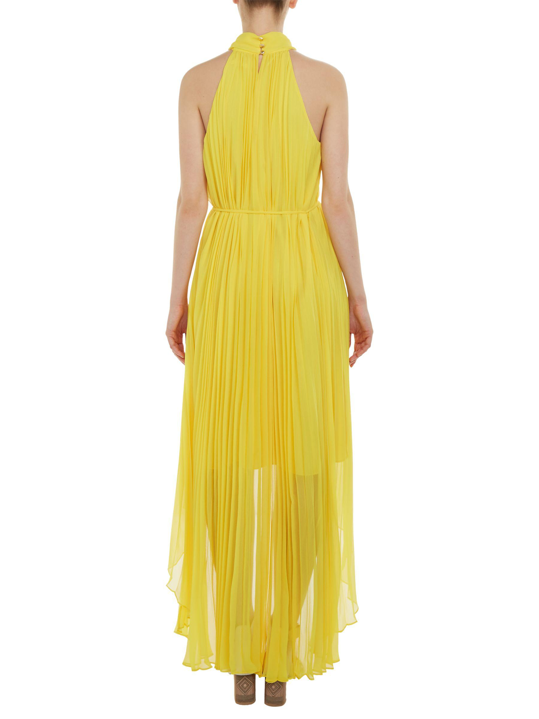 7bfe3f6c6cdf75 Ted Baker Nadette Pleated Collar Maxi Dress in Yellow - Lyst