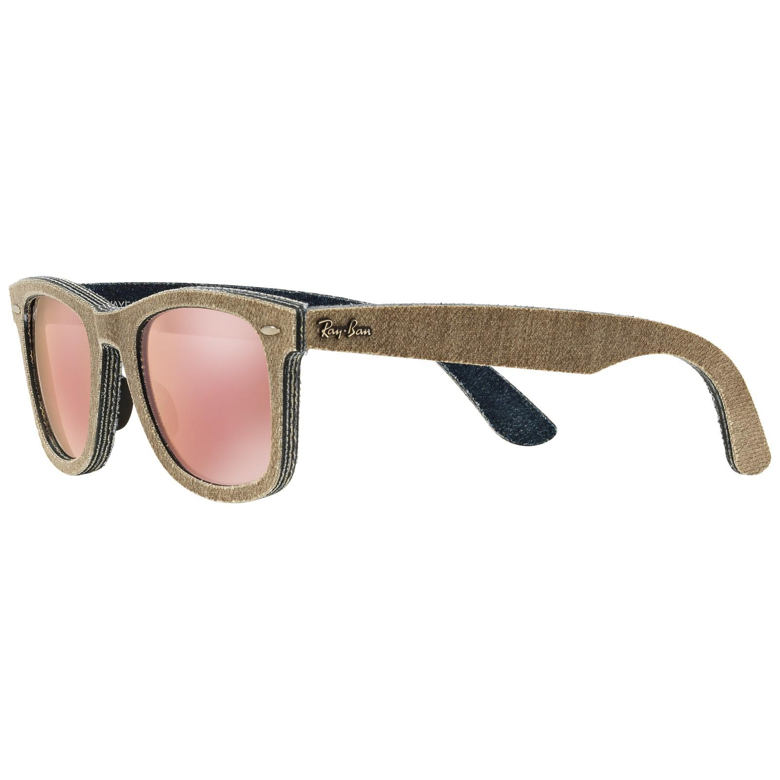 70537b42da Ray-Ban Rb2140 Original Wayfarer Denim Sunglasses in Pink - Lyst