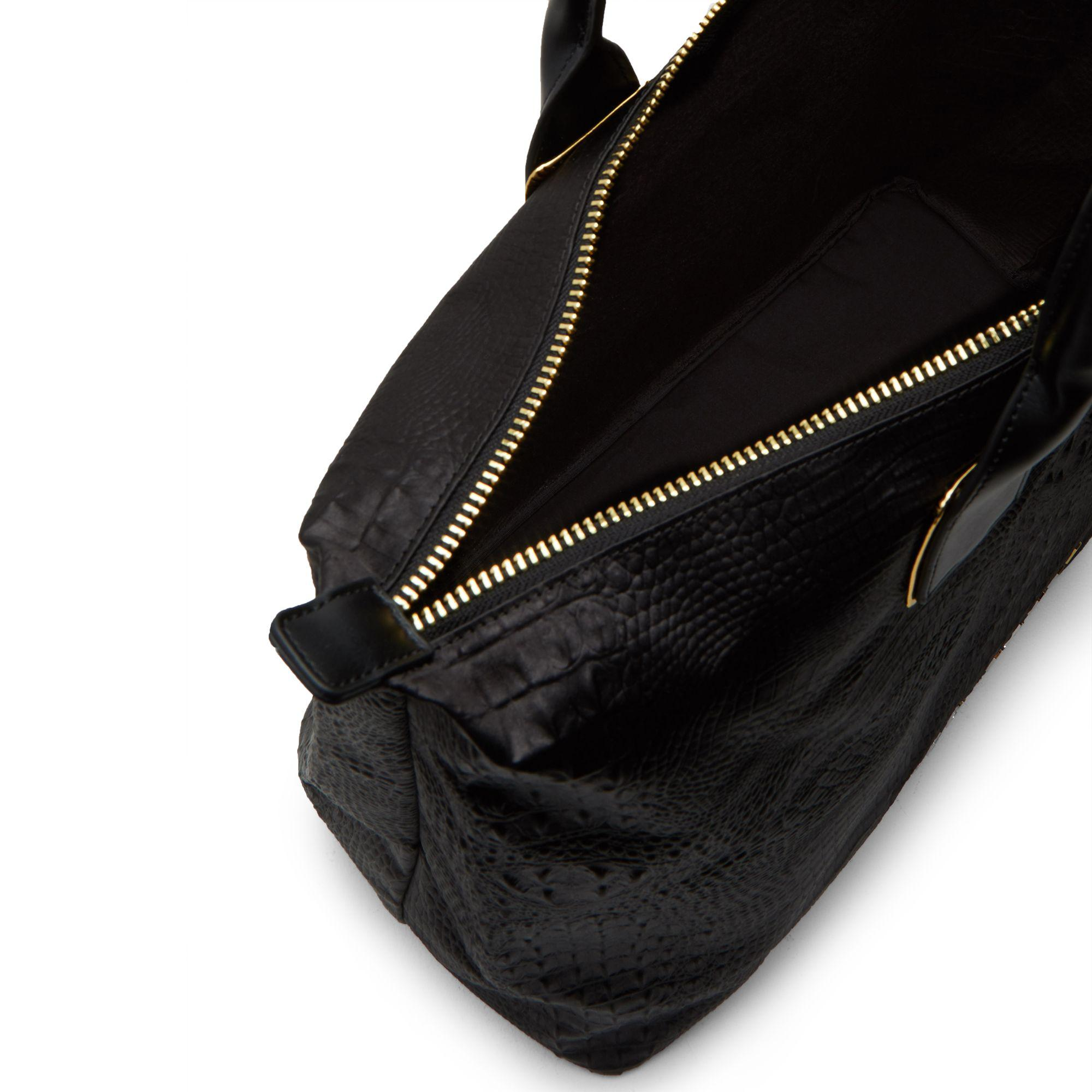 f11576903 John Lewis Ted Baker Tori Exotic Large Tote Bag in Black - Lyst