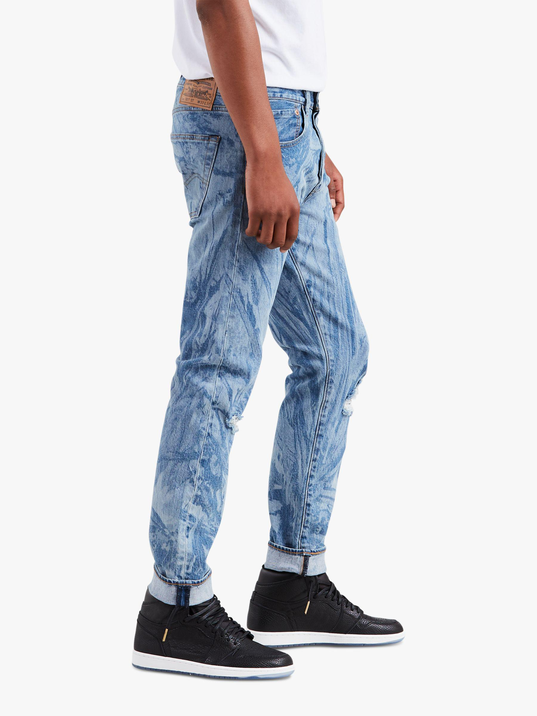 3e40782a Levi's X Justin Timberlake 501 Slim Tapered Fit Ripped Jeans in Blue ...