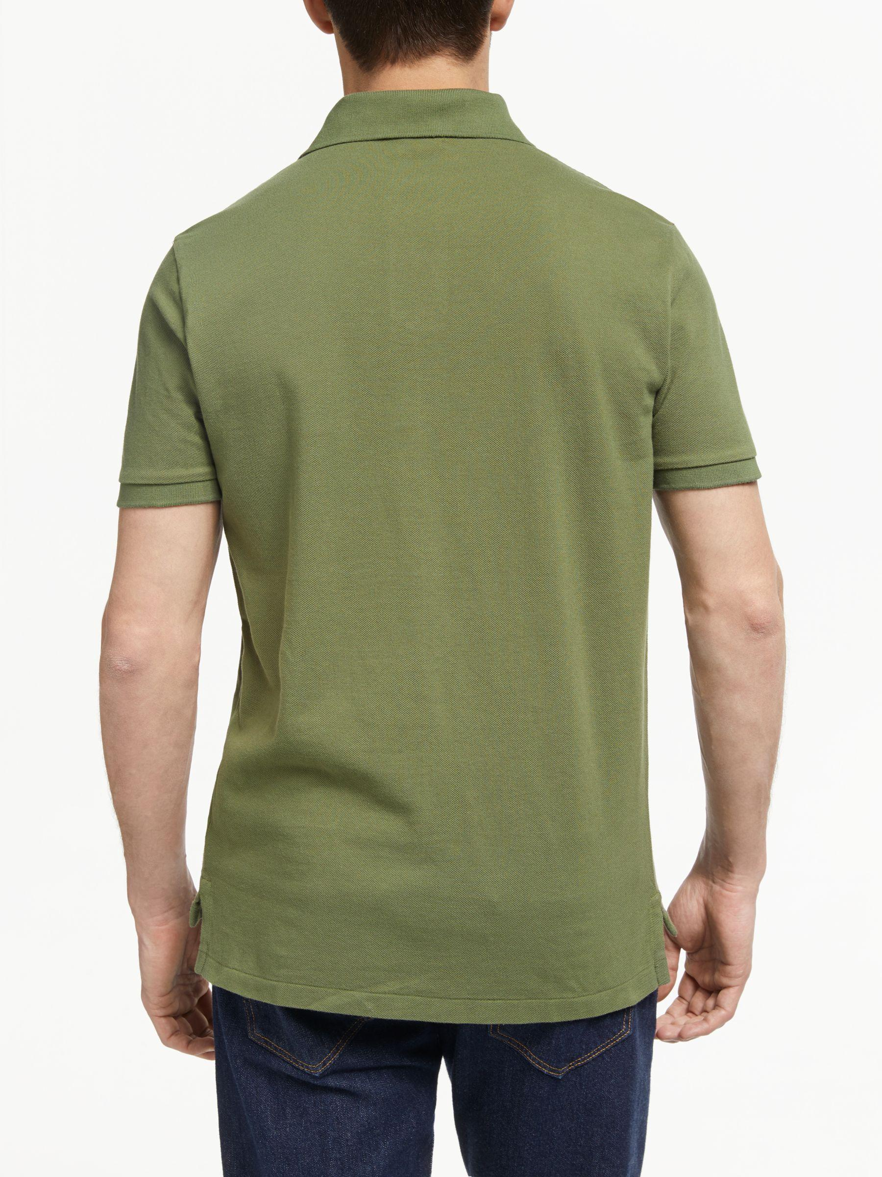 4662380f7 Ralph Lauren Polo Short Sleeve Custom Slim Fit Mesh Polo Shirt in Green for  Men - Lyst