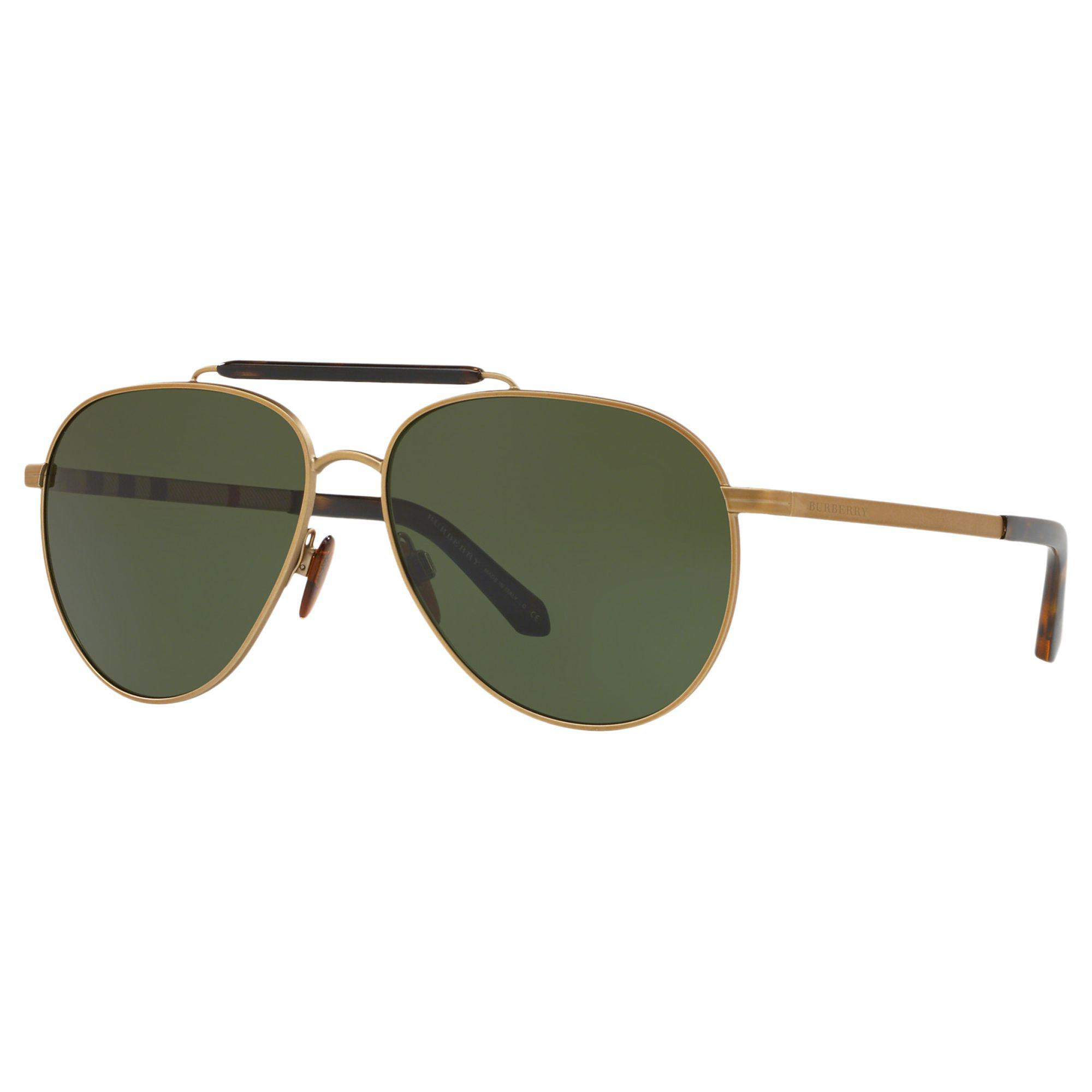 a9f355c0cb62 Burberry - Metallic Milton Aviator Metal Sunglasses for Men - Lyst. View  fullscreen