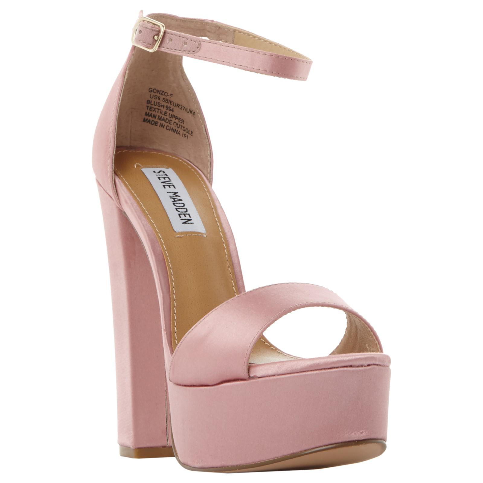 e805d12960d Steve Madden Gonzo Platform Block Heeled Sandals in Pink - Lyst
