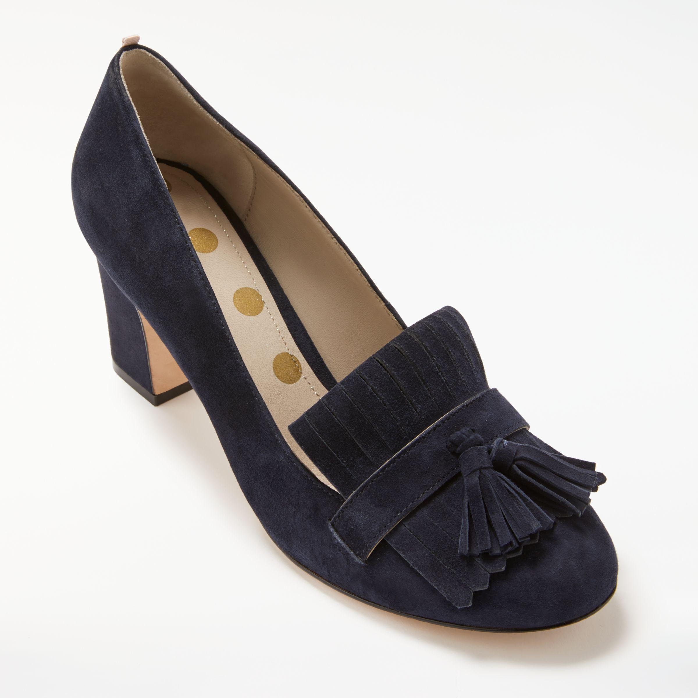 8695d317101 Boden Pippa Block Heeled Loafer Court Shoes in Blue - Lyst