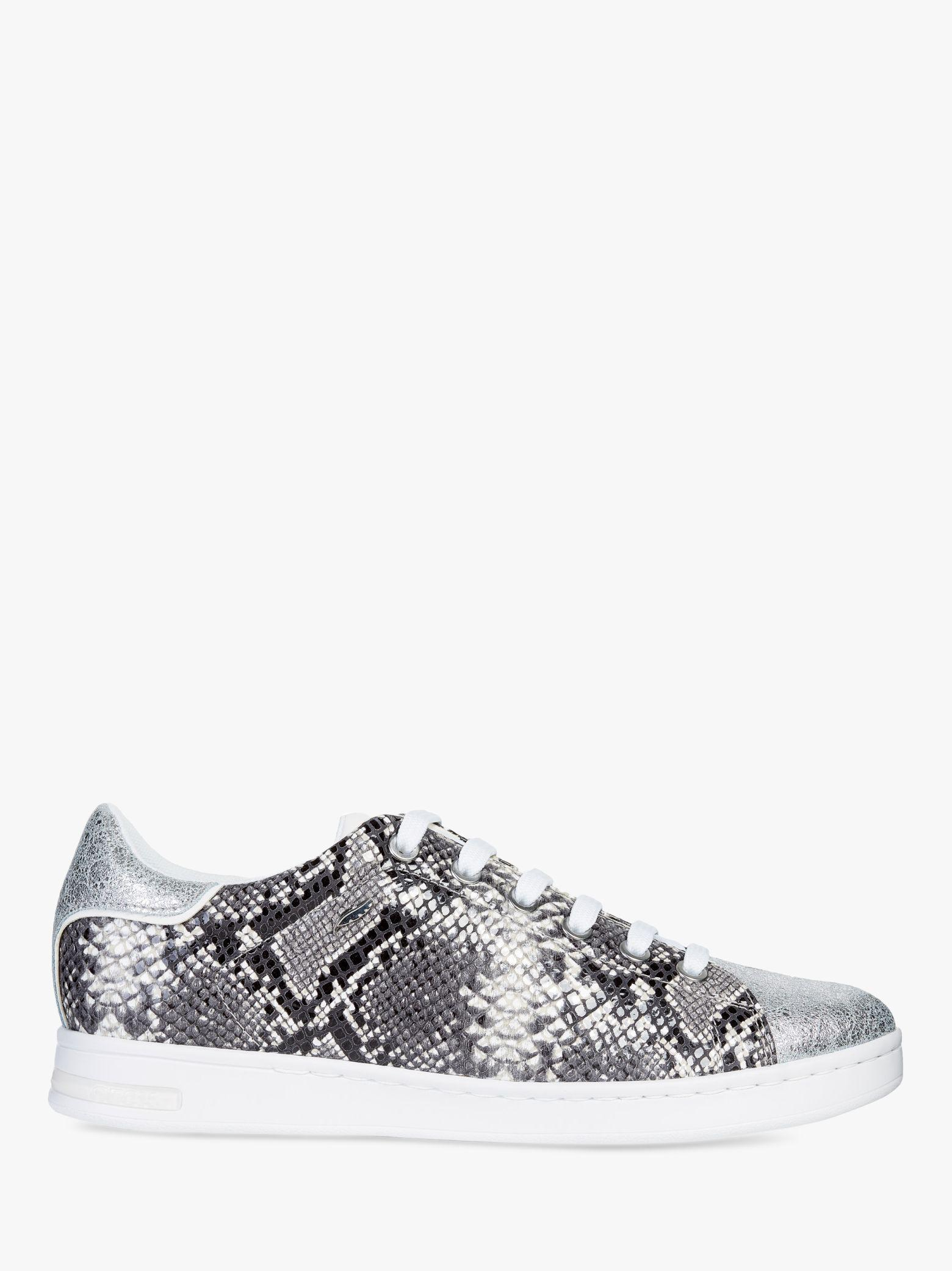 aaee608d5406eb Geox Women s Jaysen Animal Print Lace Up Trainers in White - Lyst