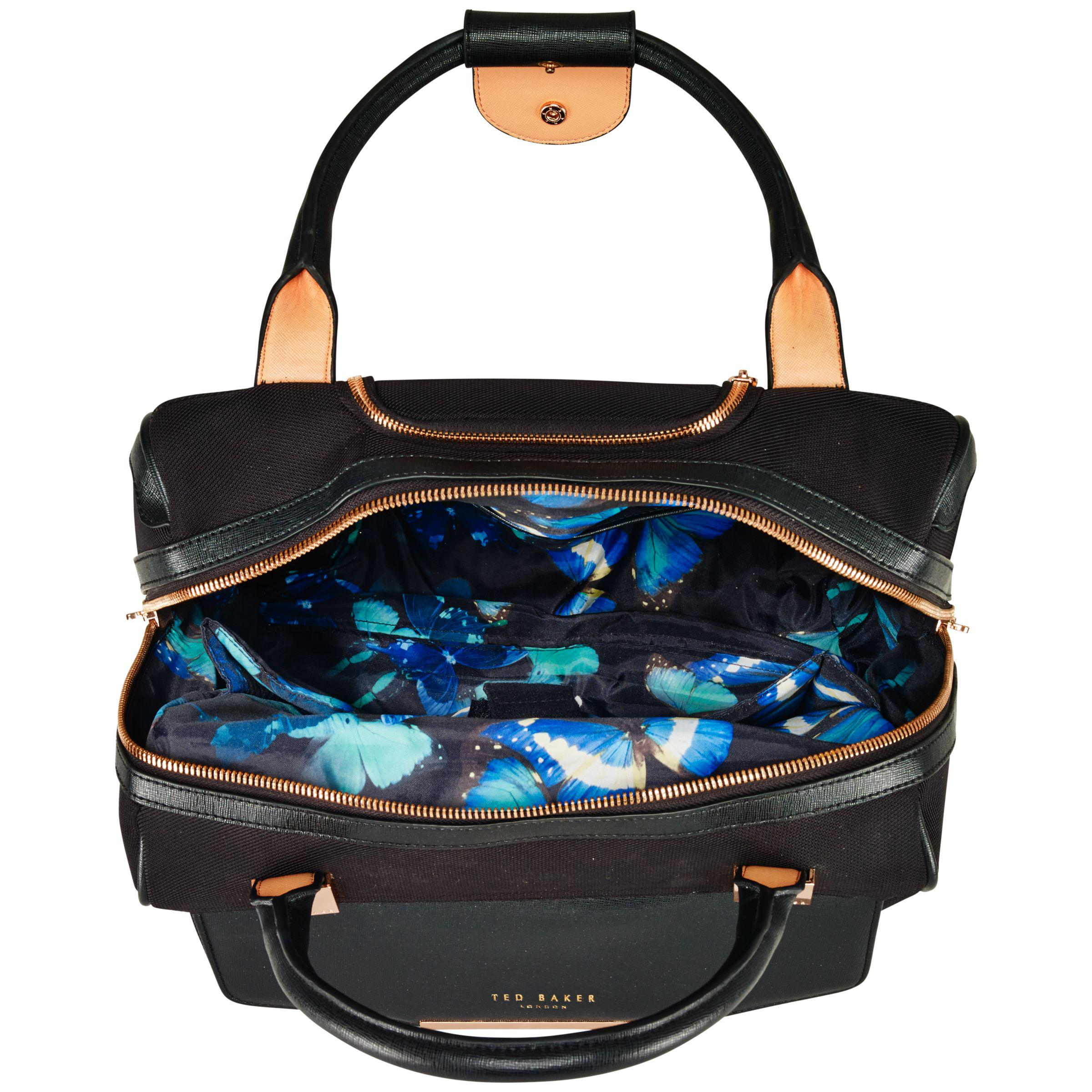 c1a2f55c96e8 Ted Baker Albany 2-wheel Business Bag in Black - Lyst