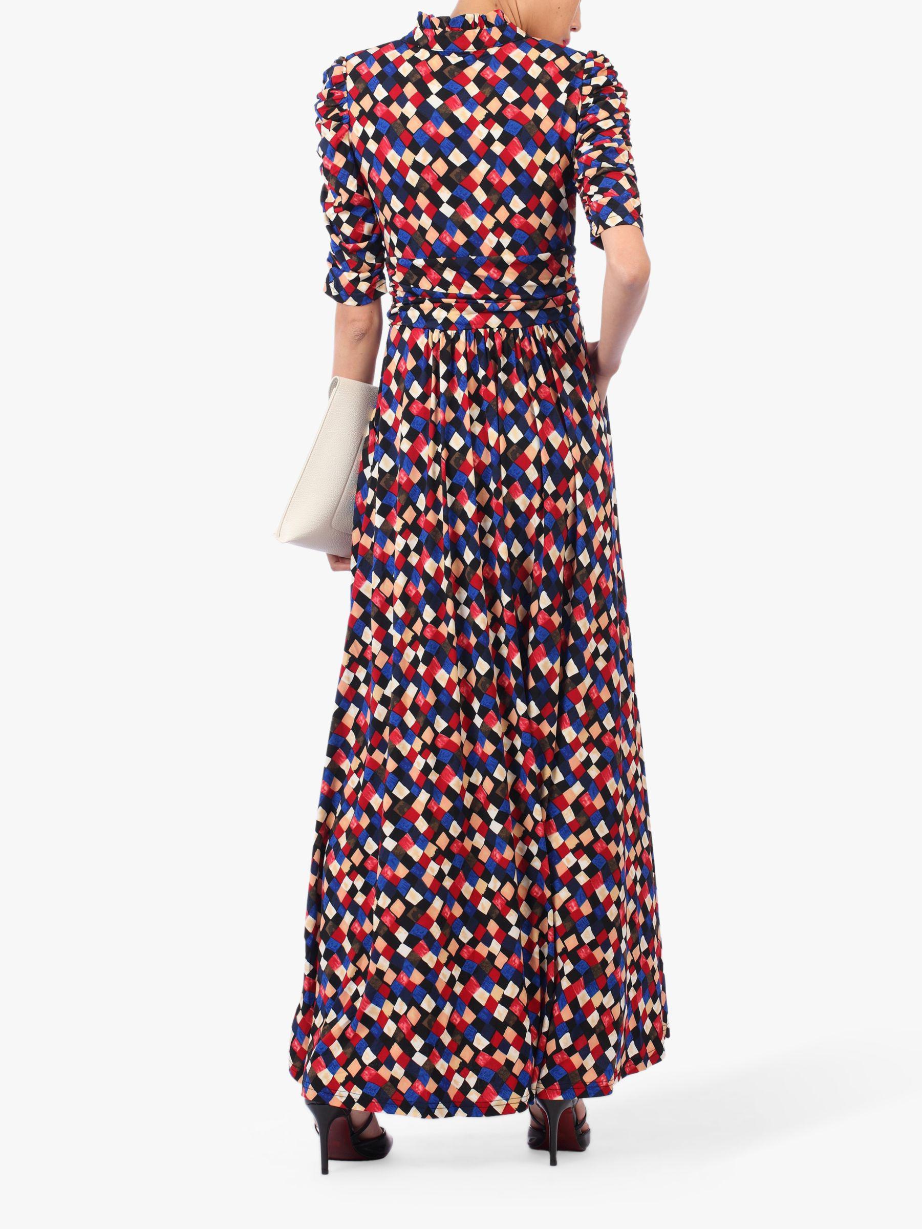 f0eefb4cbc Jolie Moi Tie Collar Maxi Dress - Lyst