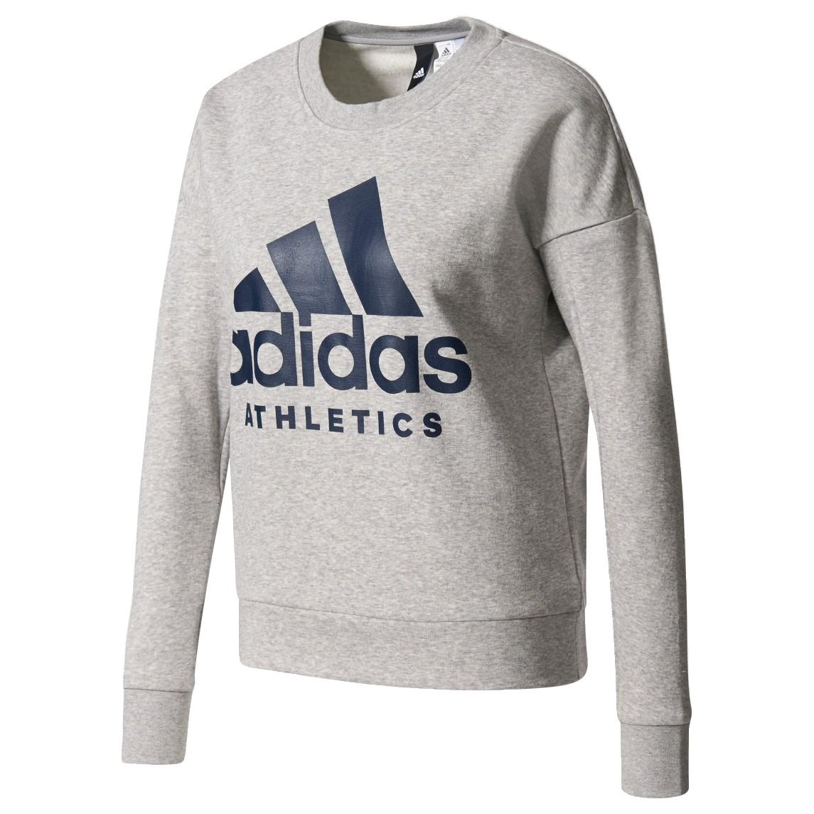 Adidas Originals Sport Sport Id sudadera de Originals entrenamiento con cuello Adidas redondo en Grey Lyst b904997 - grind.website