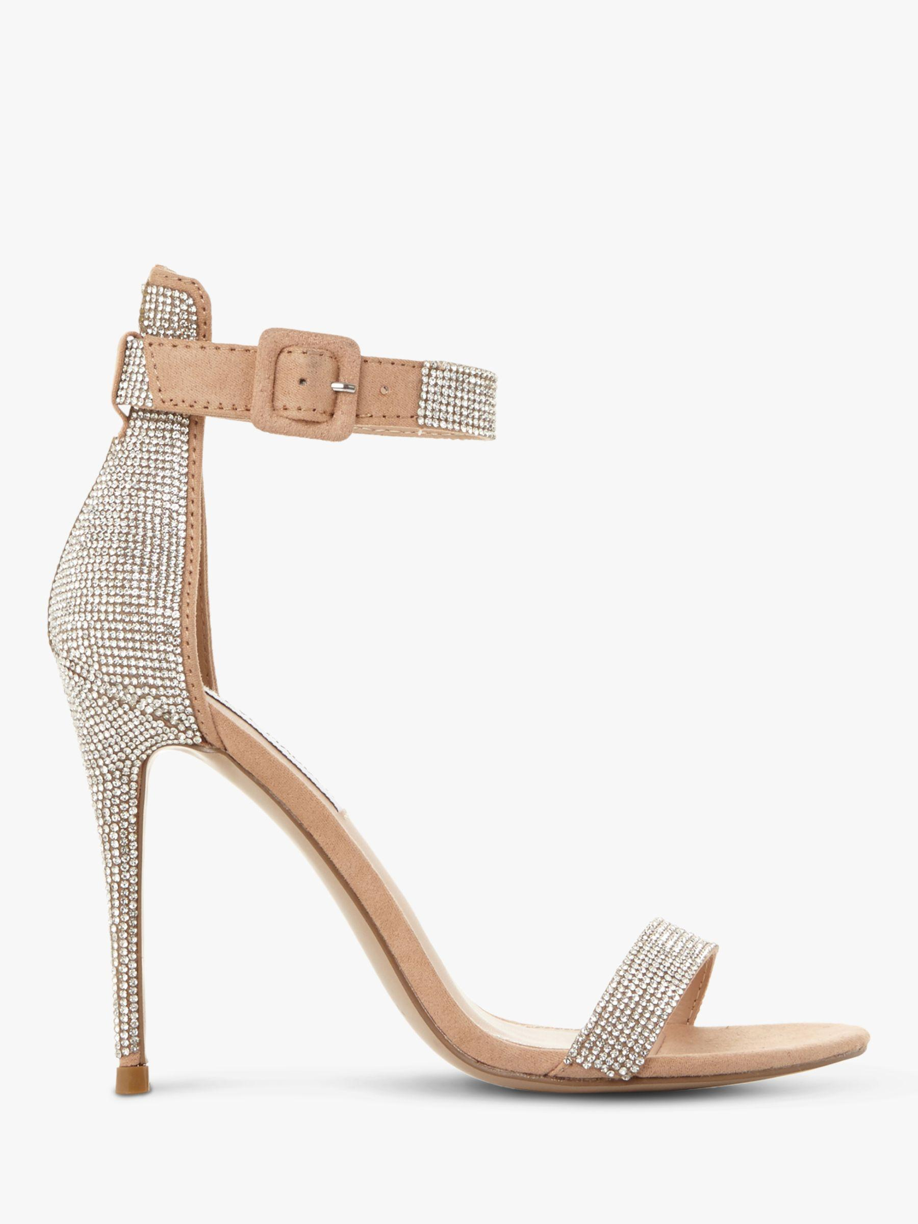 32e114a388c Steve Madden. Women s Metallic Mischa Embellished Ankle Strap Heeled Sandals