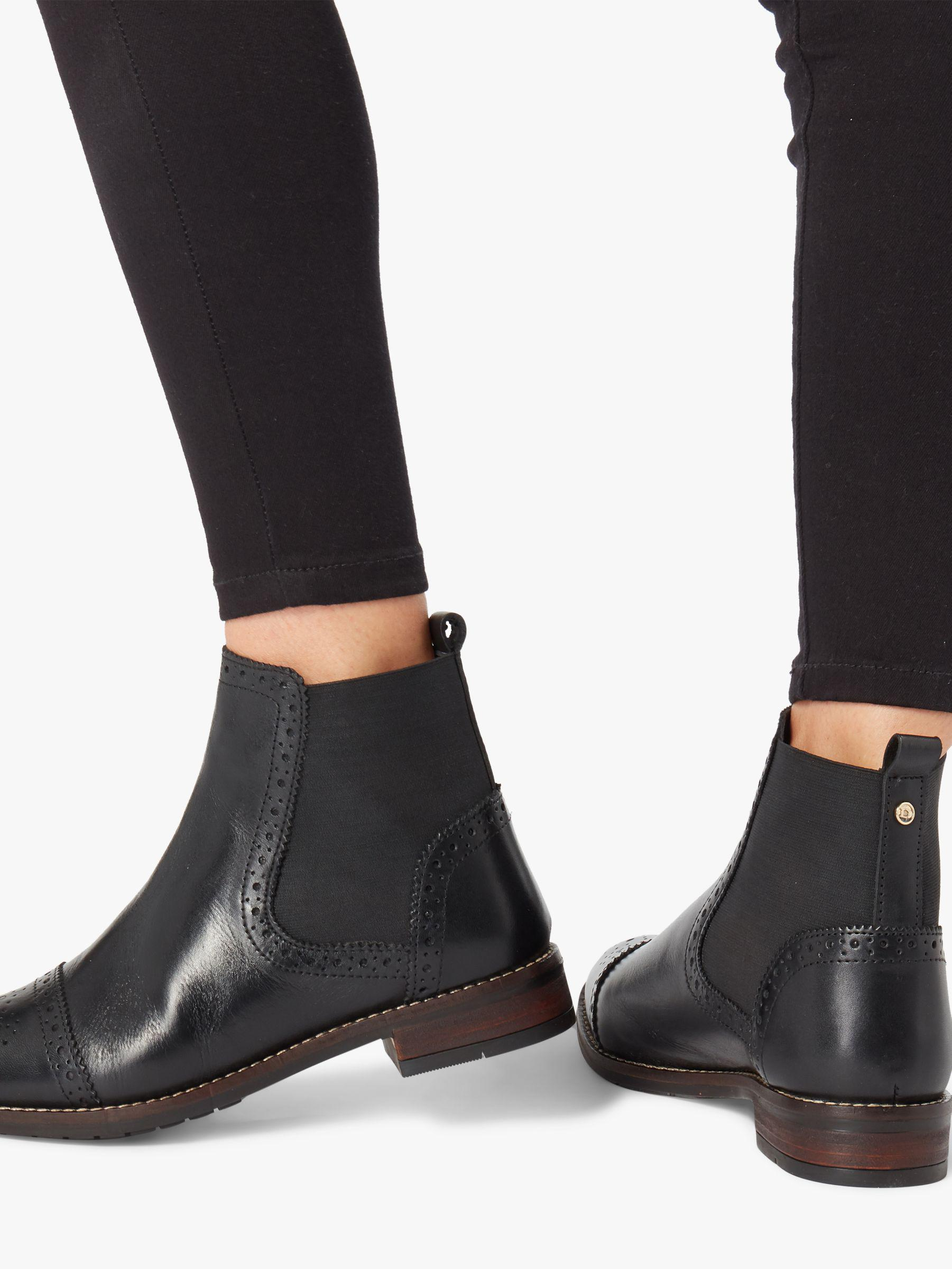 716815bc39601 Dune Queston Wide Fit Chelsea Boots in Black - Lyst