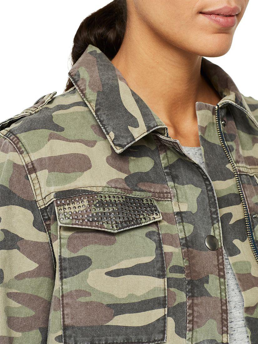 fe2c917180fd2 John Lewis Mint Velvet Camouflage Jacket in Green - Lyst