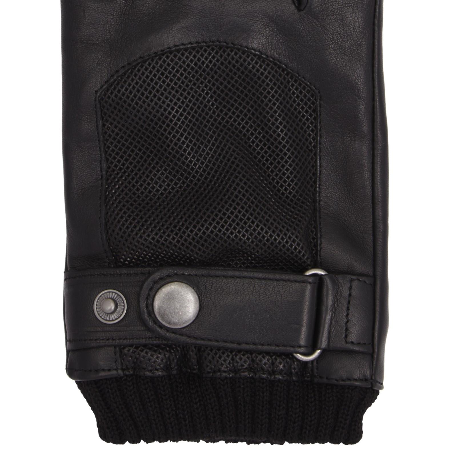 John lewis leather driving gloves - John Lewis Black Perforated Leather Driving Gloves For Men Lyst View Fullscreen