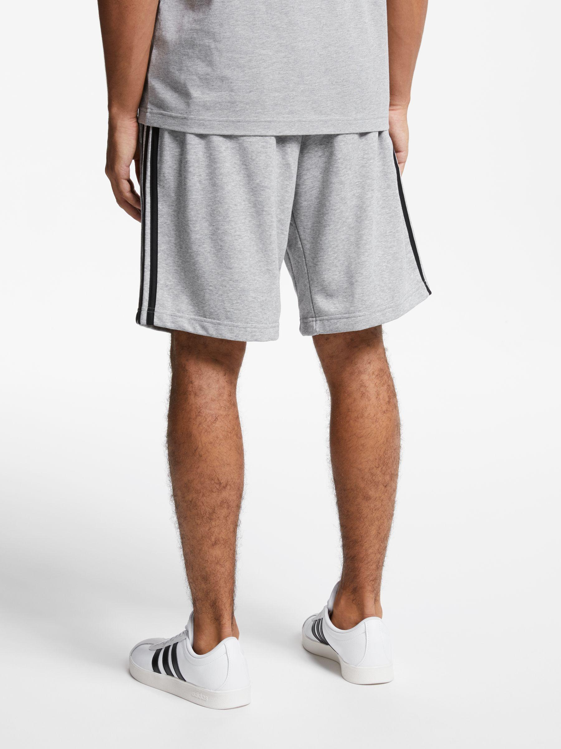 Gray Shorts 3 Men Essentials Stripes For Terry French Adidas In Lyst XqaUwX0