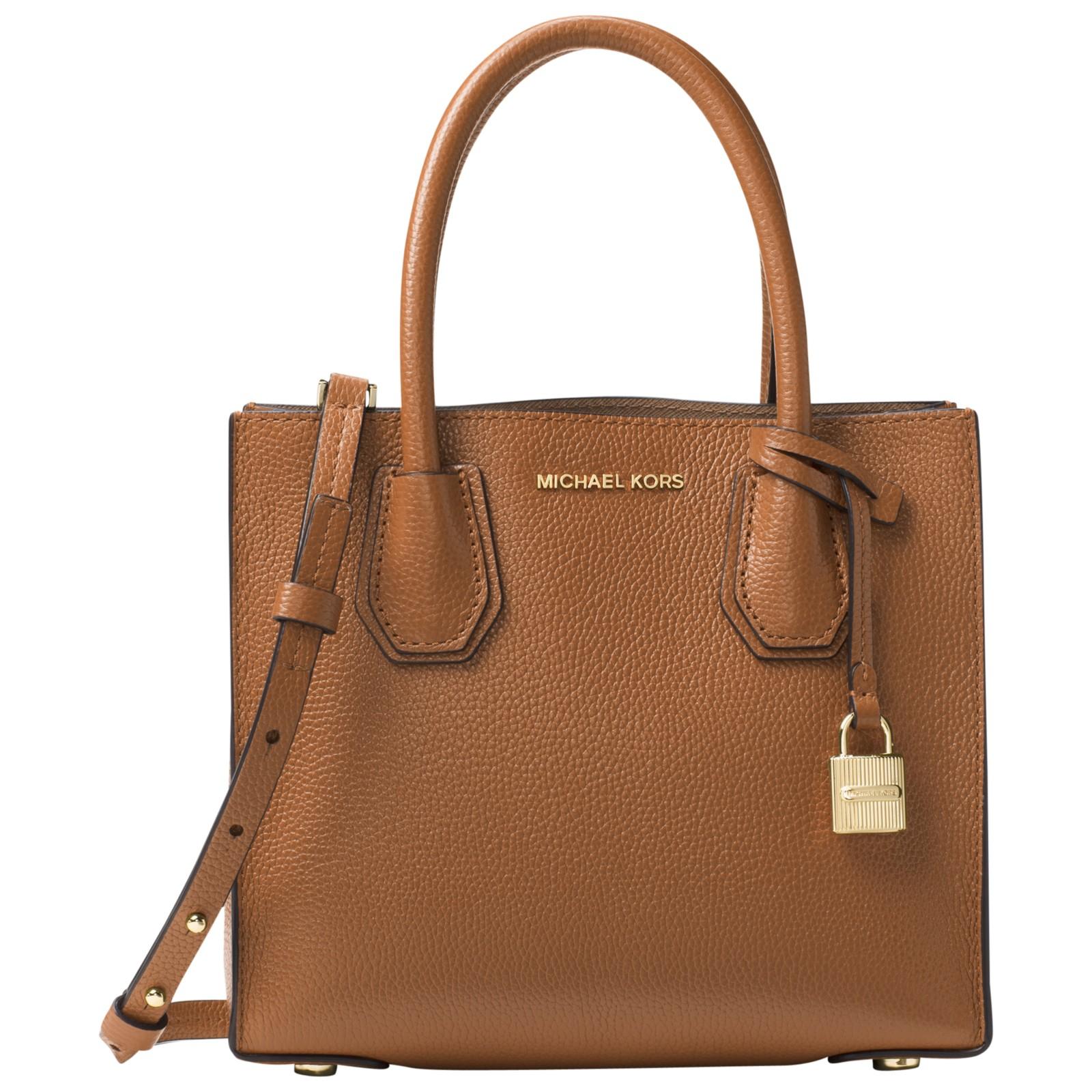 Michael Kors Mercer Leather Messenger Bag In Brown Lyst