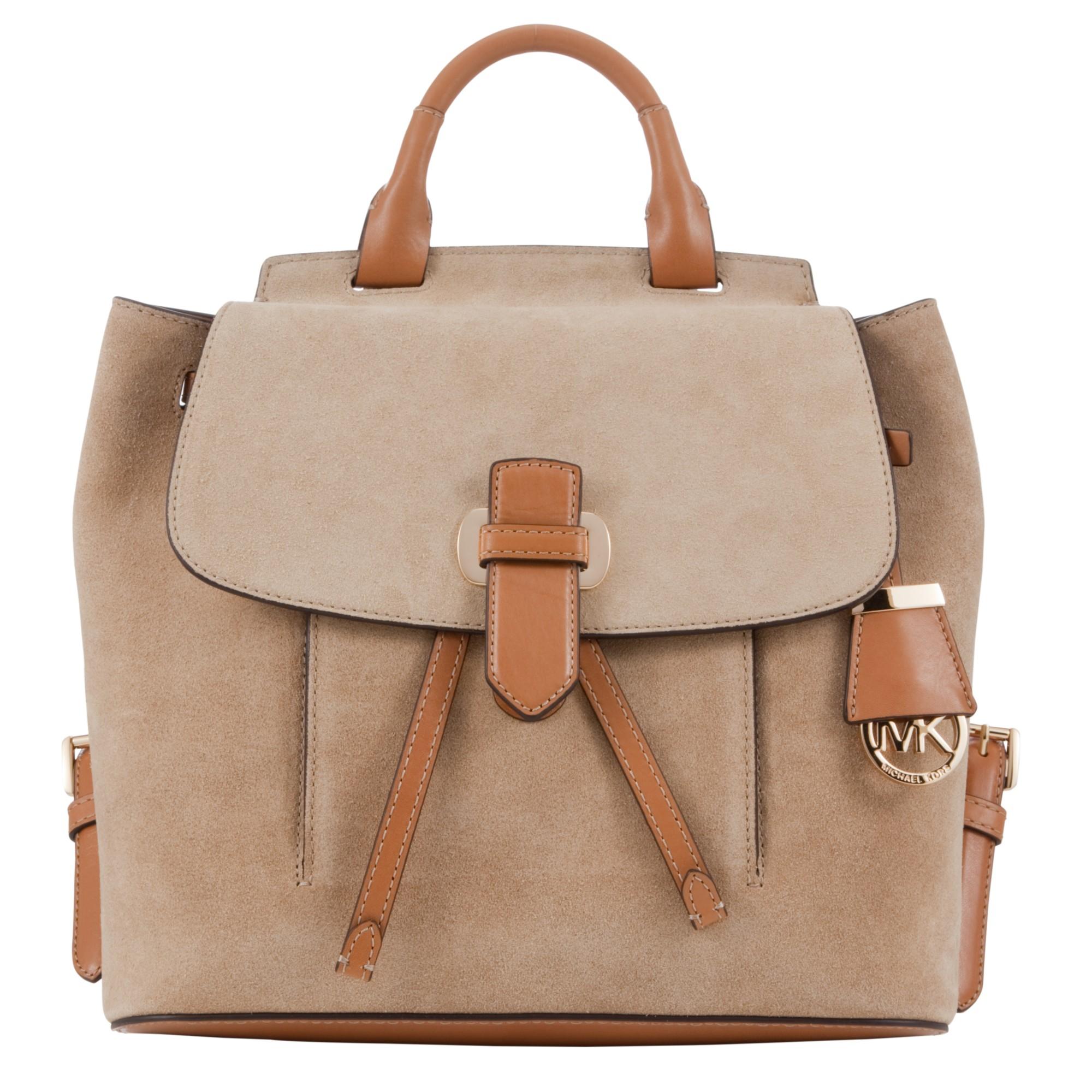 ba84e33081e2 MICHAEL Michael Kors Romy Medium Suede Backpack in Brown - Lyst