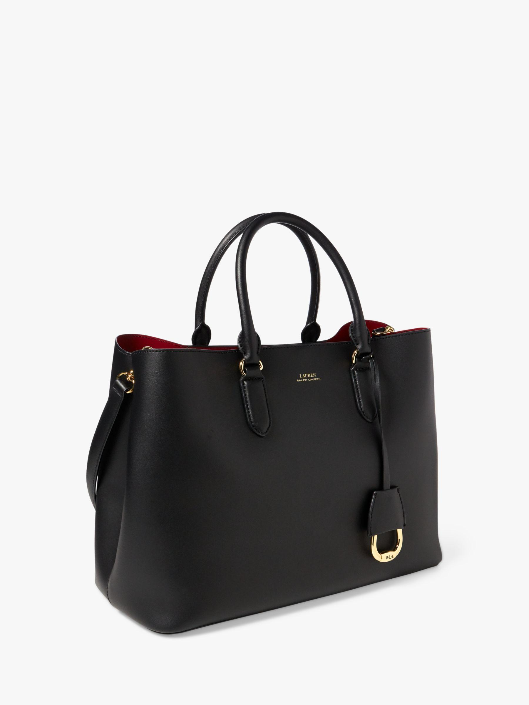 bd786aa2331e Ralph Lauren Leather Marcy Satchel in Black - Save 40% - Lyst