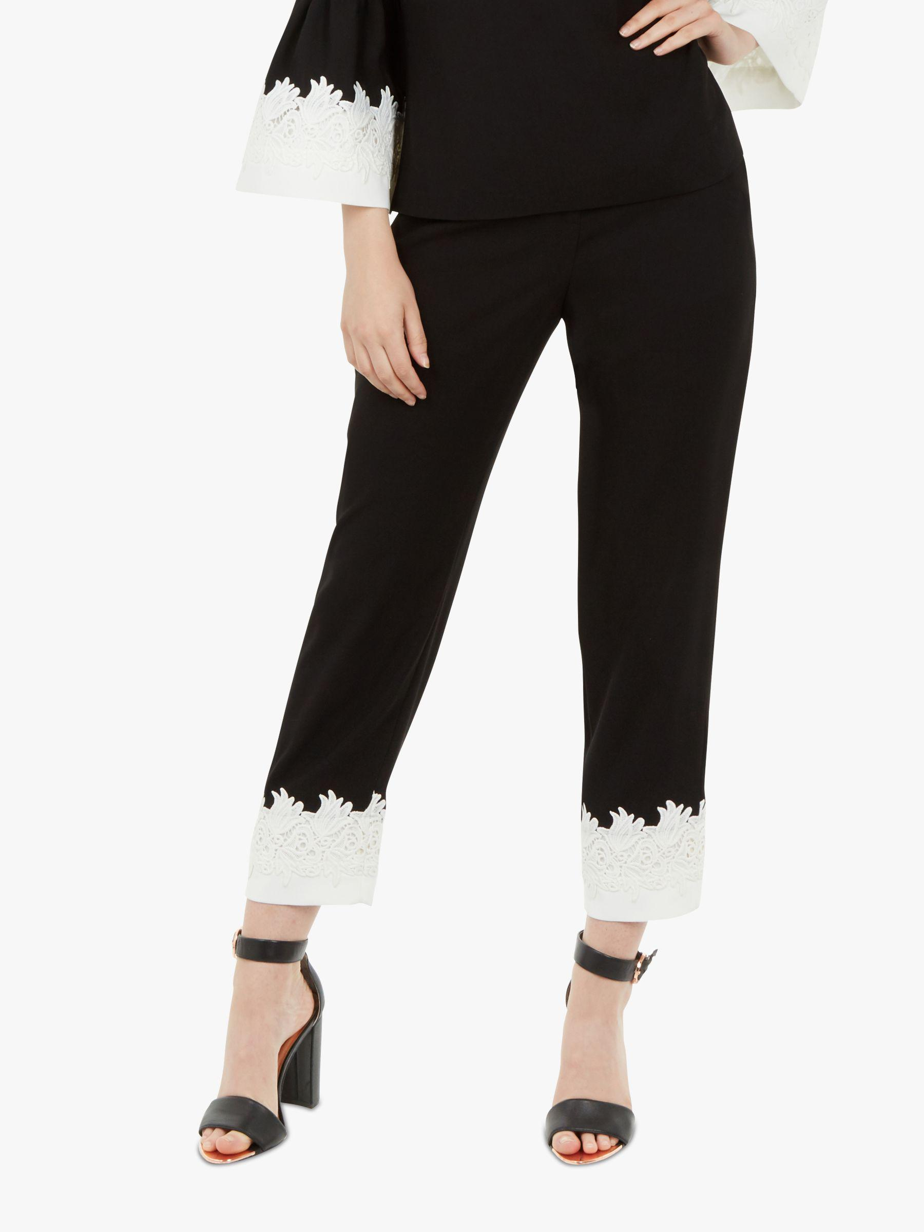 d58345b1c6 Ted Baker Fancisa Lace Trim Trousers in Black - Lyst