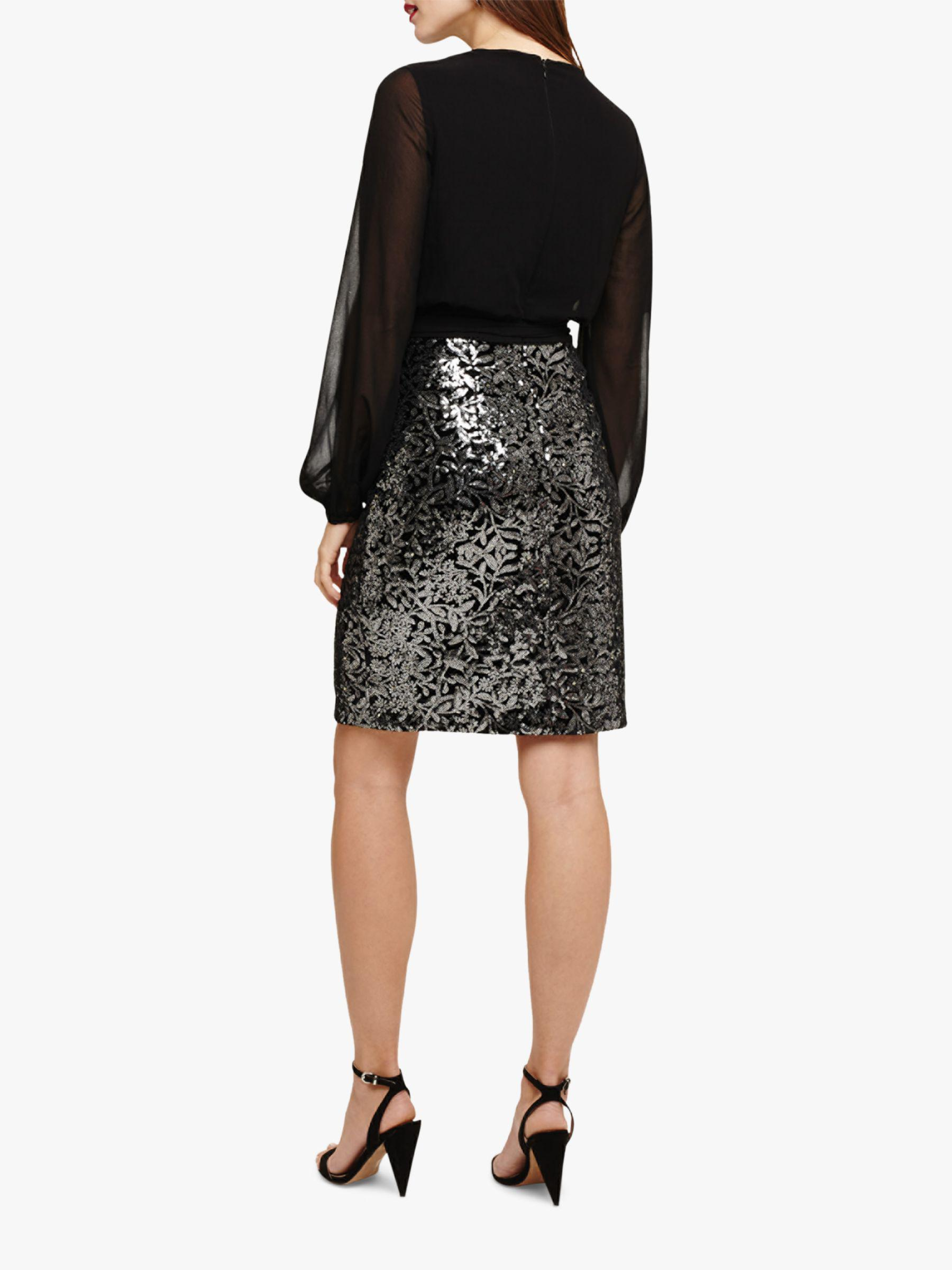ef1206eb Phase Eight Janessa Sequin Dress in Black - Lyst