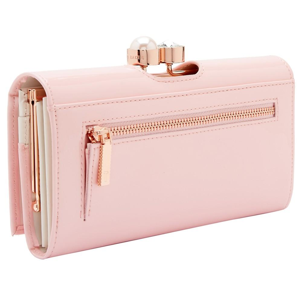 b60d74550 Ted Baker Cecilie Pearl Leather Matinee Purse in Pink - Lyst