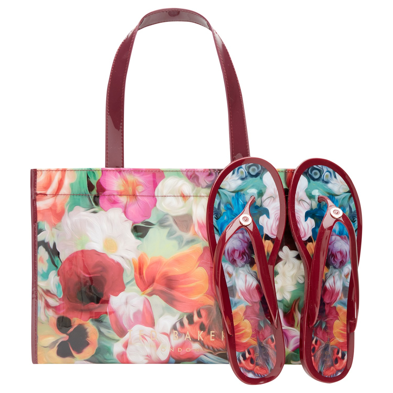 083901ff9 Ted Baker Alcinar Floral Swirl Tote Bag And Flip Flops Set - Lyst