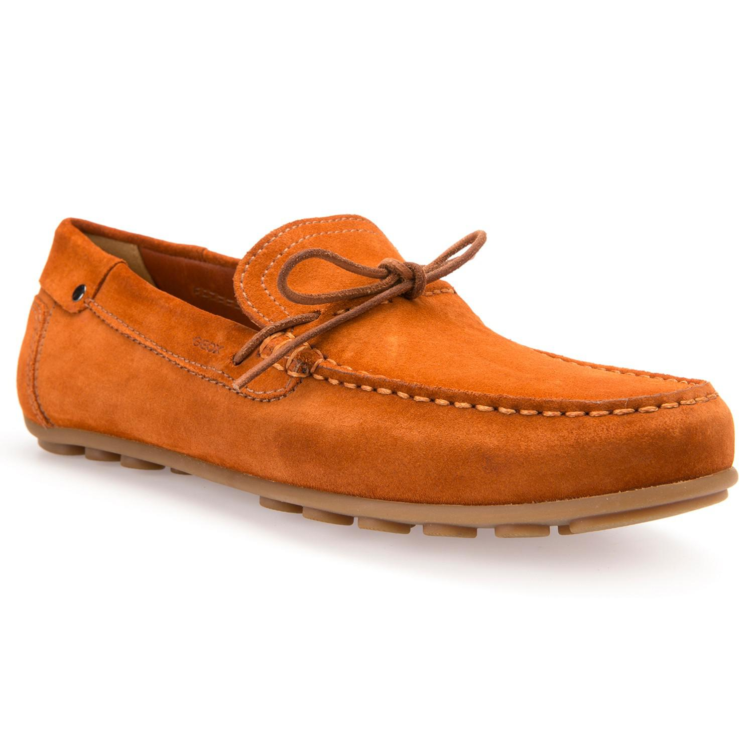 5170b00c174 Geox Giona Suede Driving Shoes in Orange for Men - Lyst
