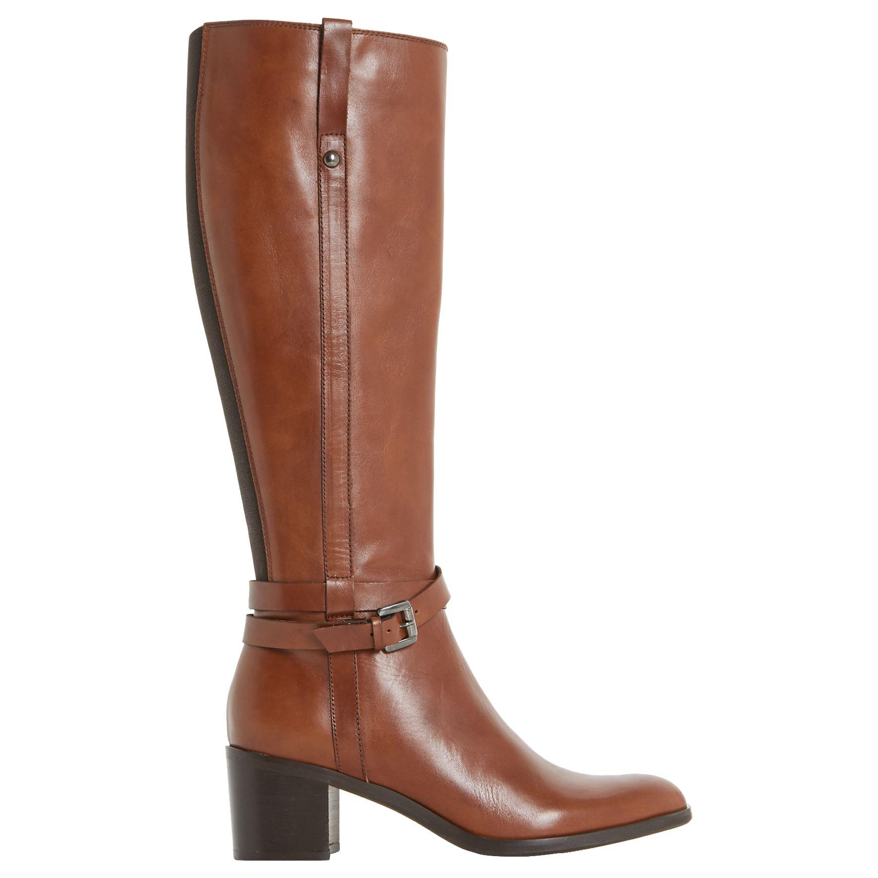 0841f96ee9e Dune Black Timmie Block Heeled Knee High Boots in Brown - Lyst