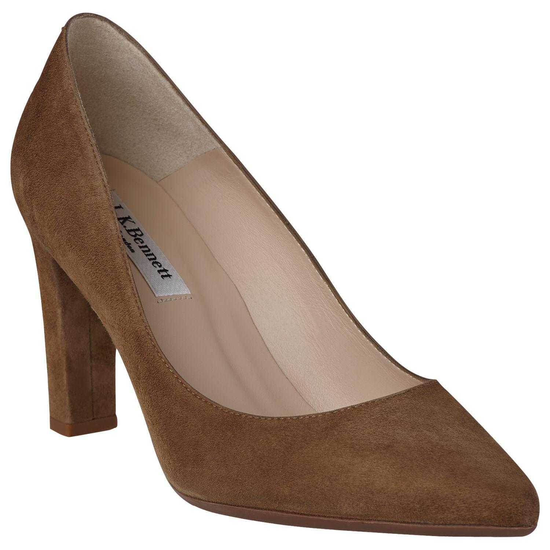 ff76fc0c2d2 L.K.Bennett Tess Block Heeled Court Shoes in Brown - Lyst