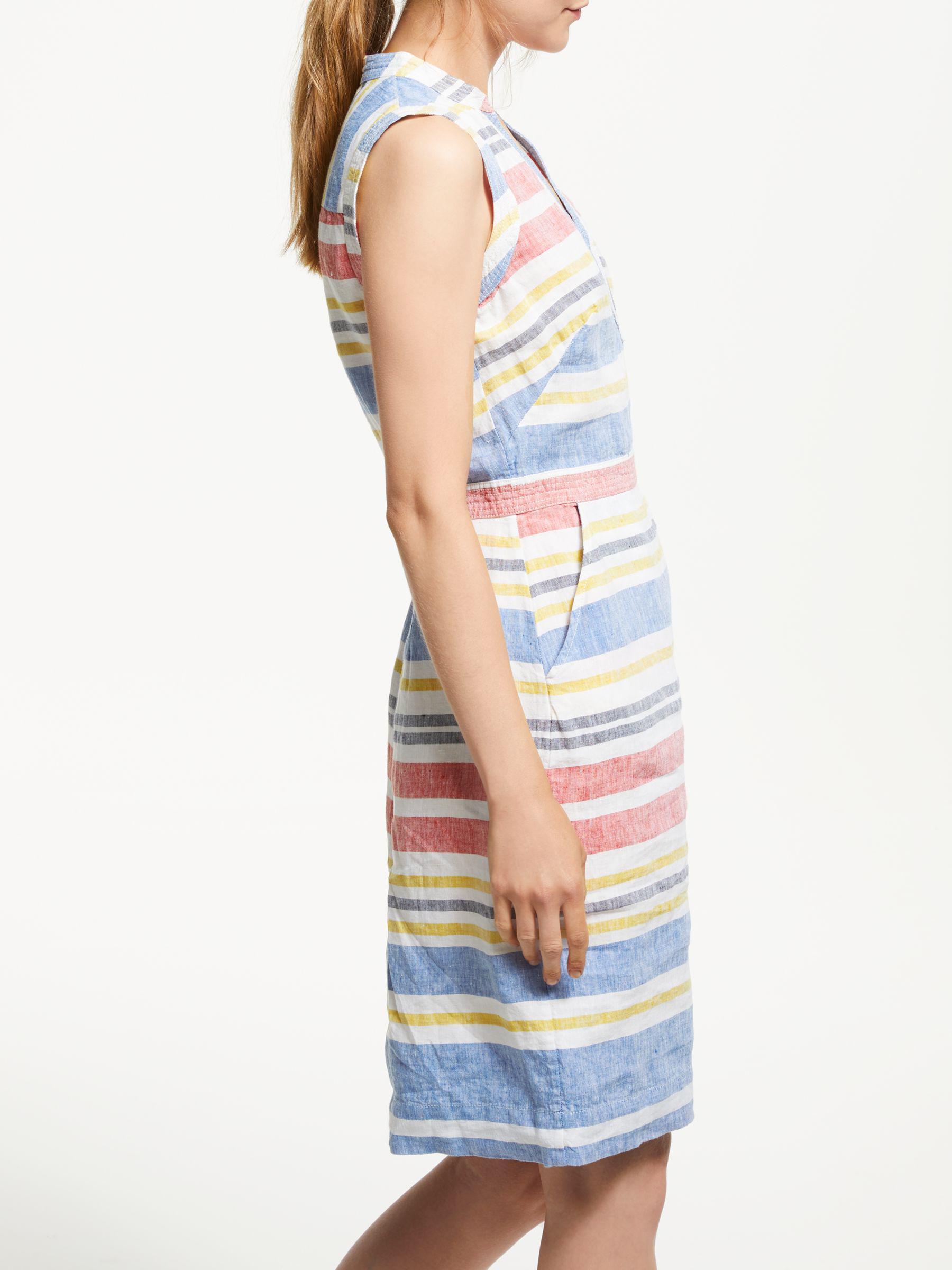 002513f7abf Boden Linen Notch Neck Dress in Blue - Lyst
