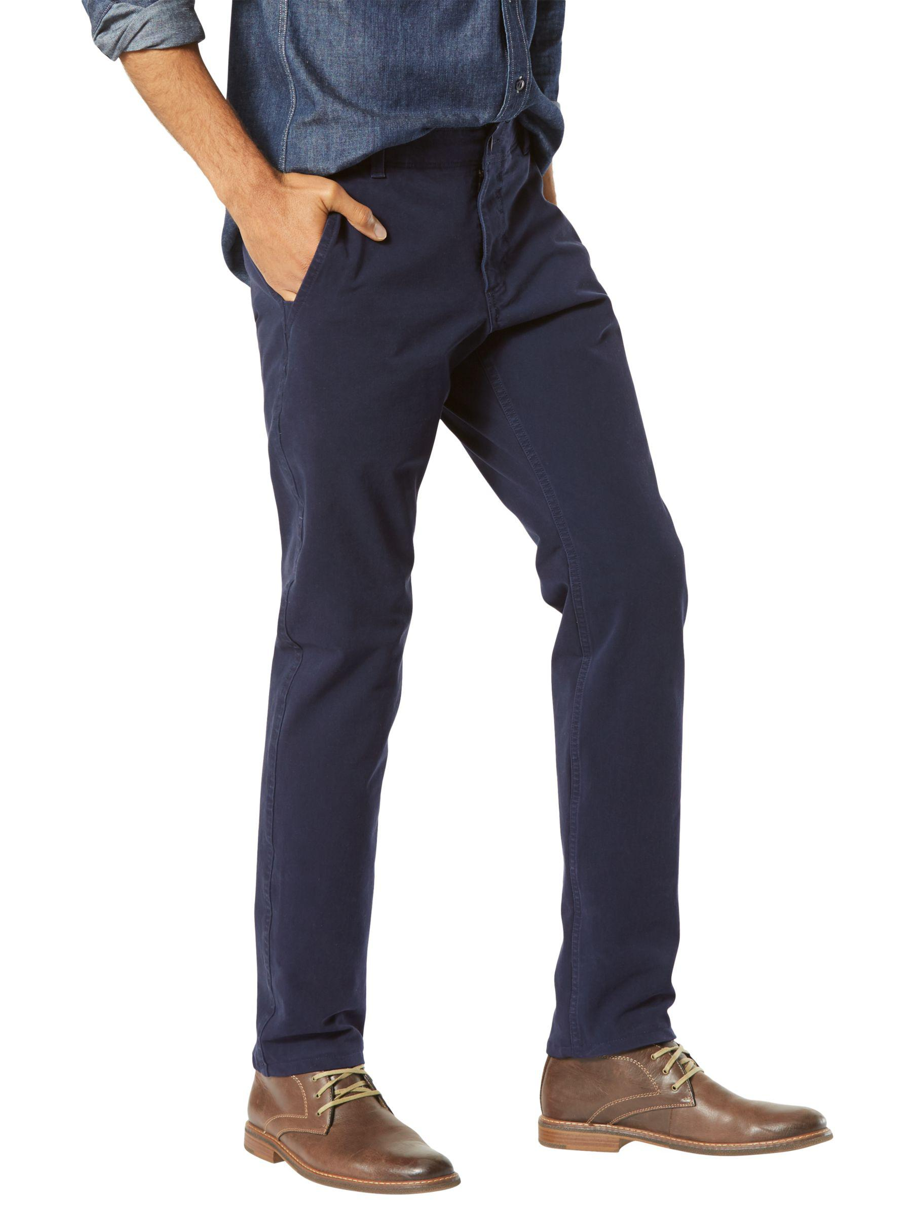 7258fc69d63a29 Dockers Alpha Khaki Smart 360 Flex Slim Tapered Trousers in Blue for ...