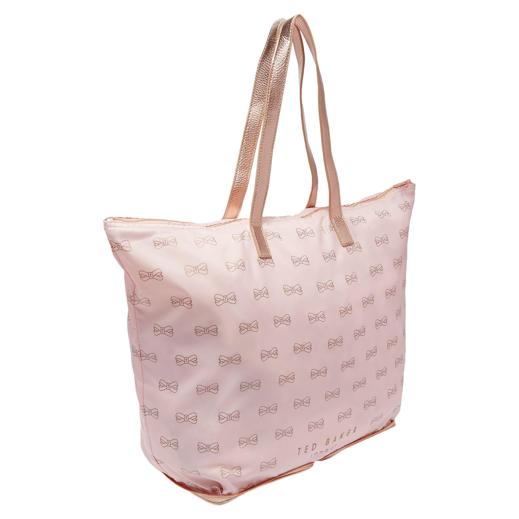 d3ddd5f9b3ff26 Ted Baker Jeb Foldaway Shopper Bag in Pink - Lyst