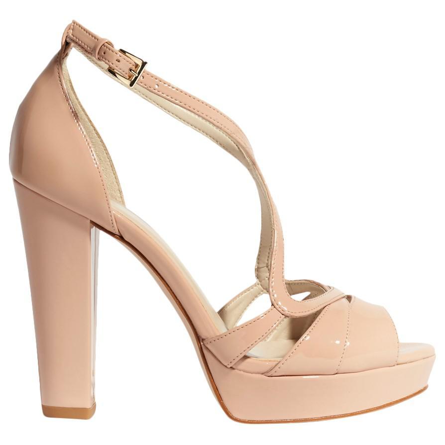 Karen Millen. Women's Block Heeled Strappy Platform Sandals