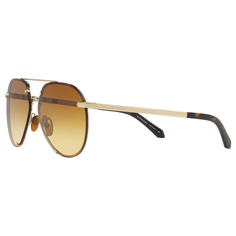286c41184 Burberry - Metallic Be3099 Women's Aviator Sunglasses - Lyst. View  fullscreen