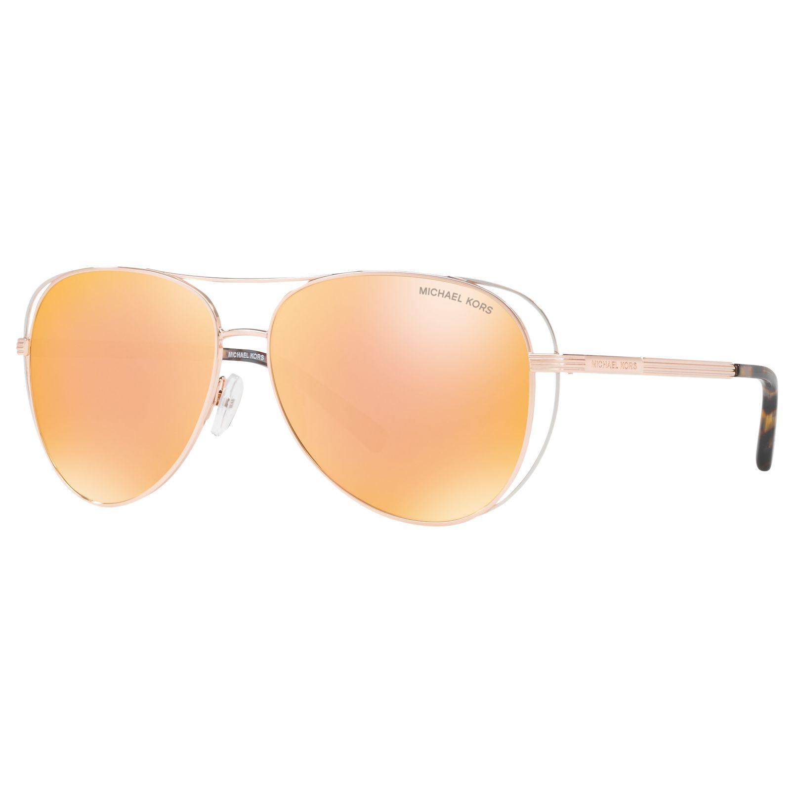 7f68f7c2bd Michael Kors - Metallic Mk1024 Lai Aviator Sunglasses - Lyst. View  fullscreen