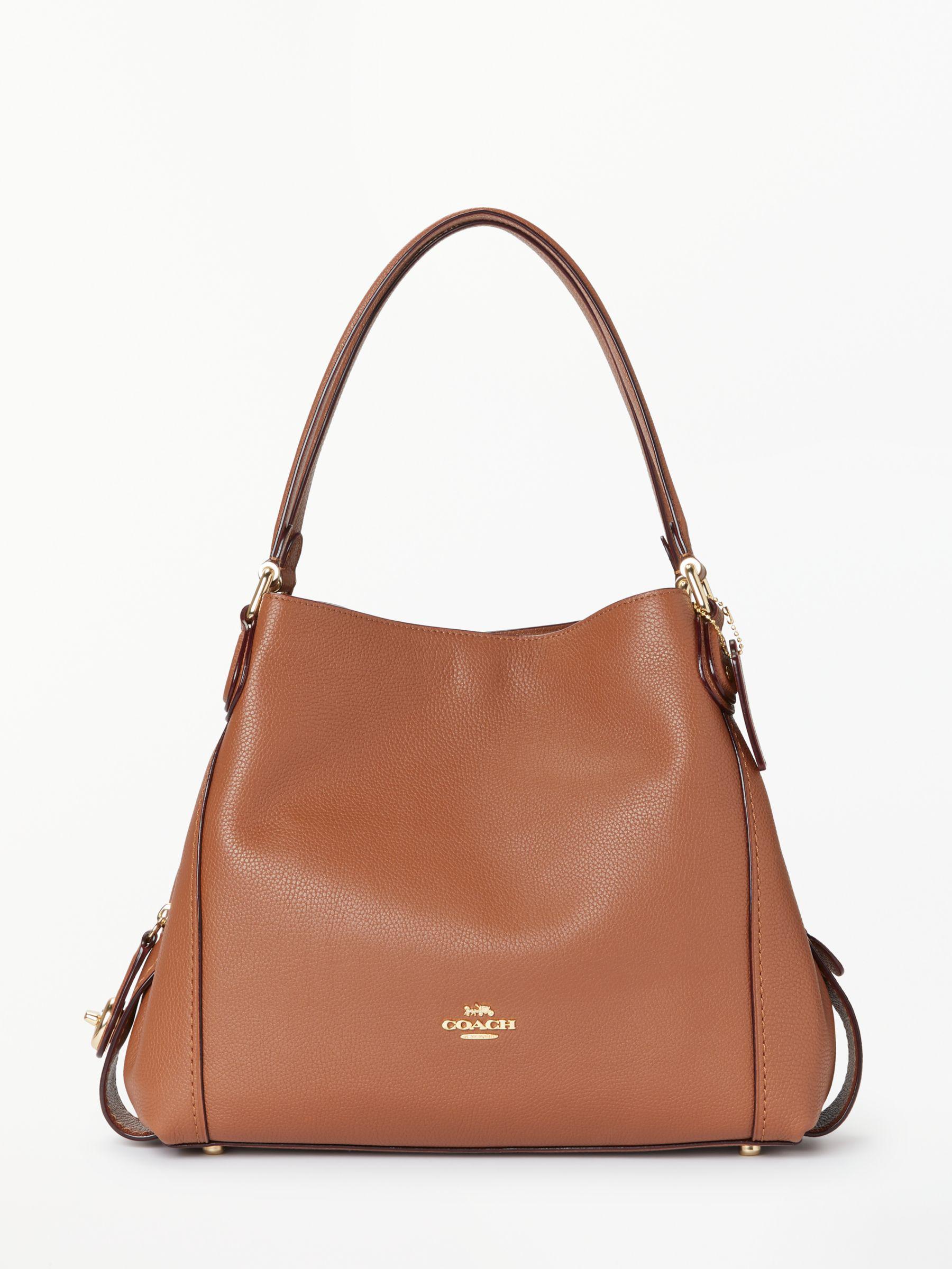 65c525f396b8 COACH - Brown Edie 31 Polished Pebble Leather Shoulder Bag - Lyst. View  fullscreen