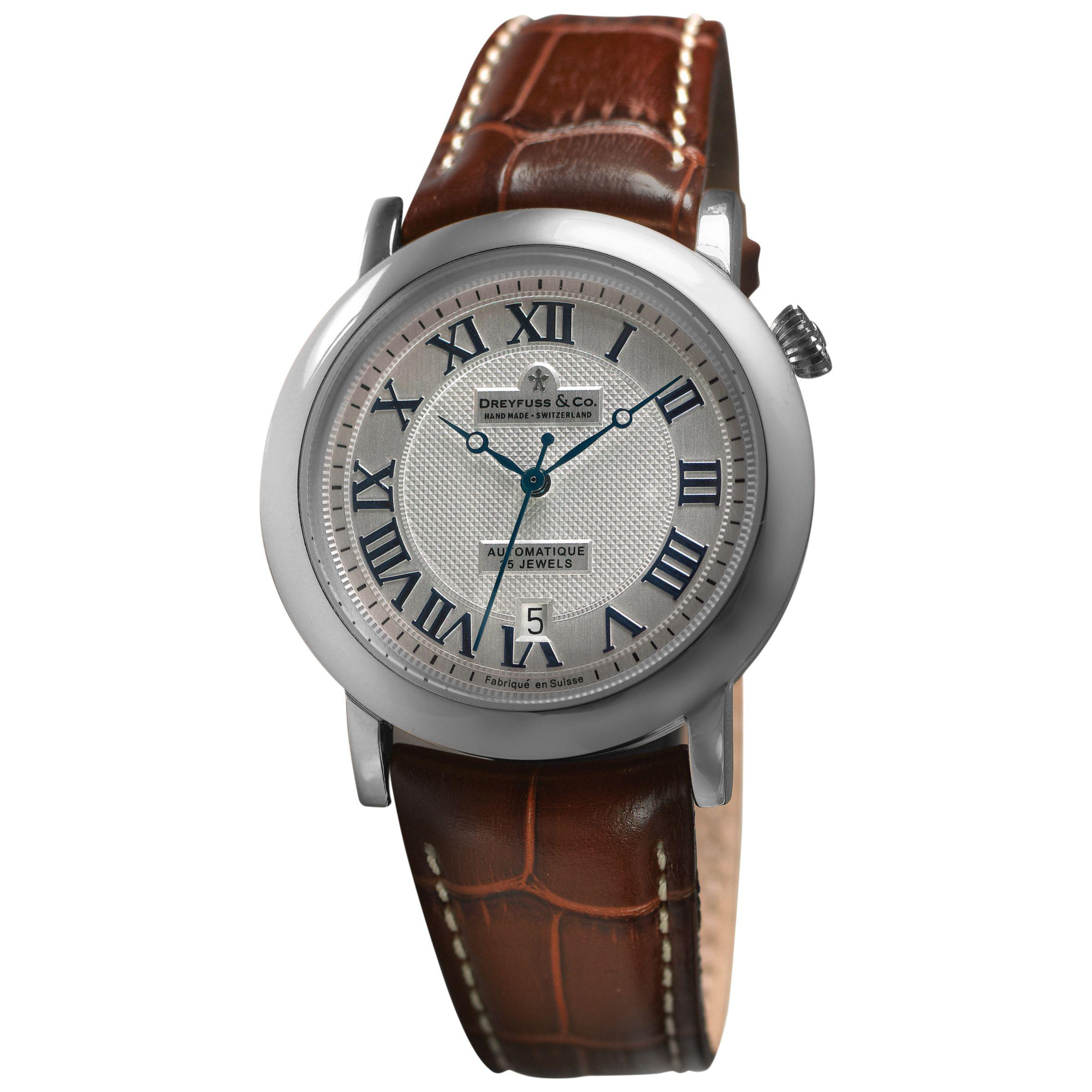 83e3c61a1c5d0 John Lewis Dreyfuss   Co Dgs00030 21 Men s 1925 Leather Strap Watch ...