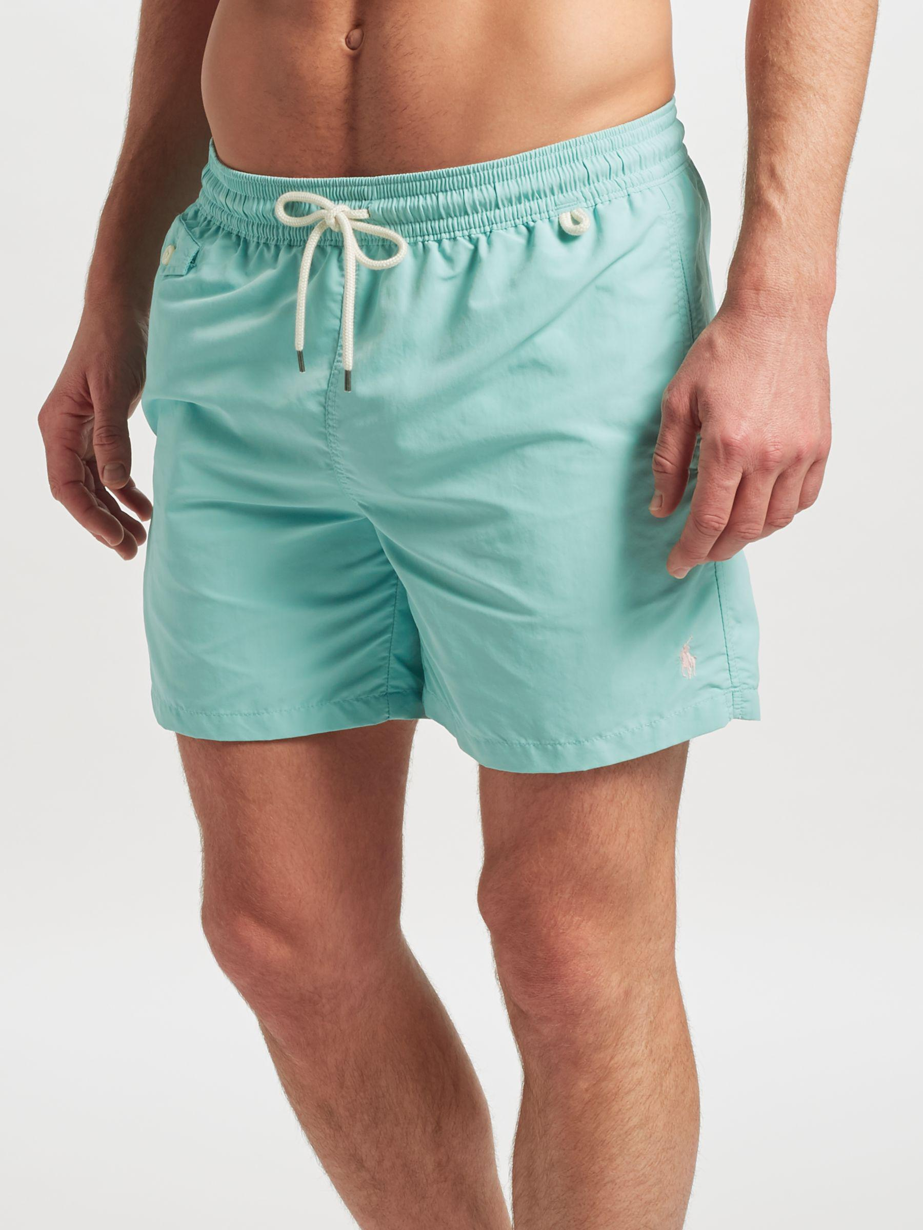 794b0659bc Ralph Lauren Polo Traveller Swim Shorts in Green for Men - Lyst