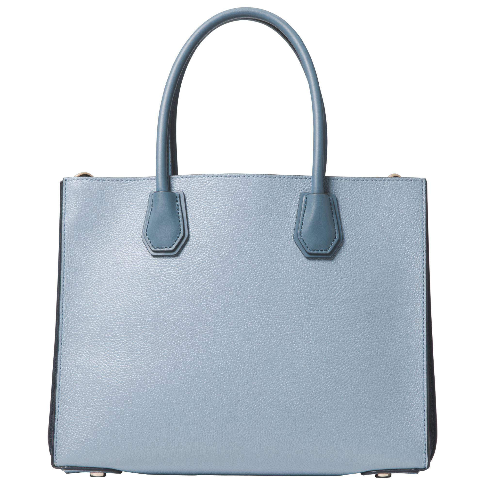 Michael Kors Mercer Large Pebbled Leather Accordion Tote in Blue - Lyst cdc53ce2b20b6