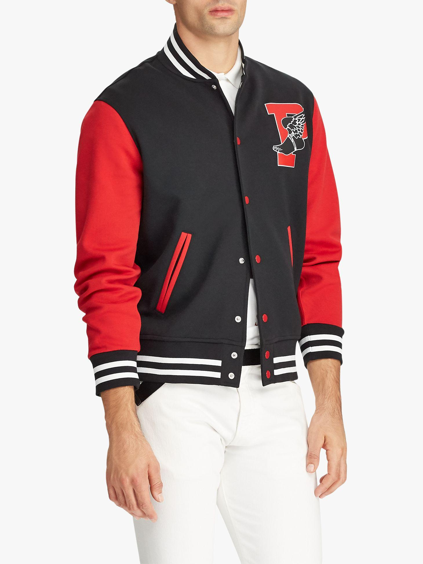 6bfe4cb5d Ralph Lauren Polo P Wing Baseball Jacket In Red For Men Lyst