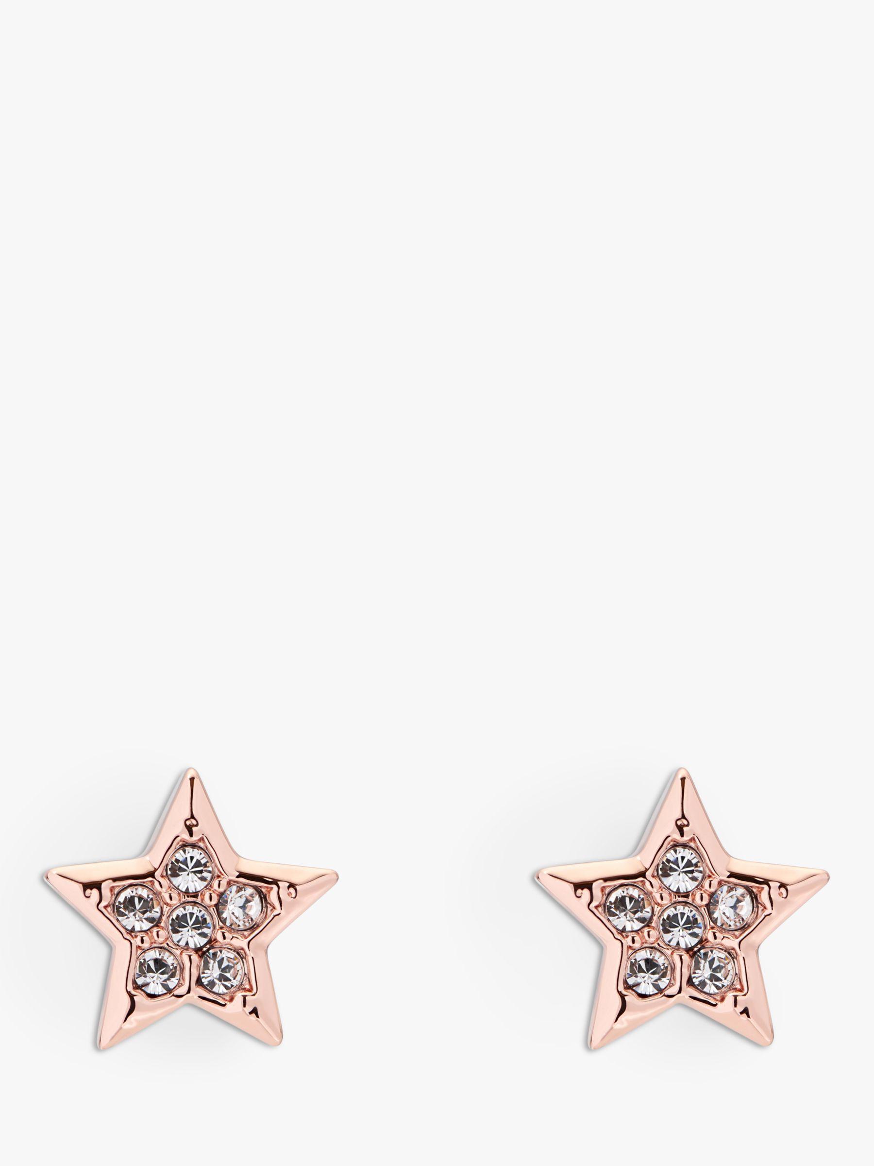 5245c3abc Ted Baker Safire Swarovski Crystal Star Stud Earrings In Pink Lyst