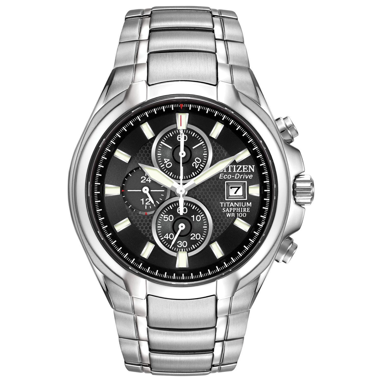 9fc0f5ea0922 Citizen Ca0260-52e Men s Eco-drive Titanium Chronograph Bracelet ...