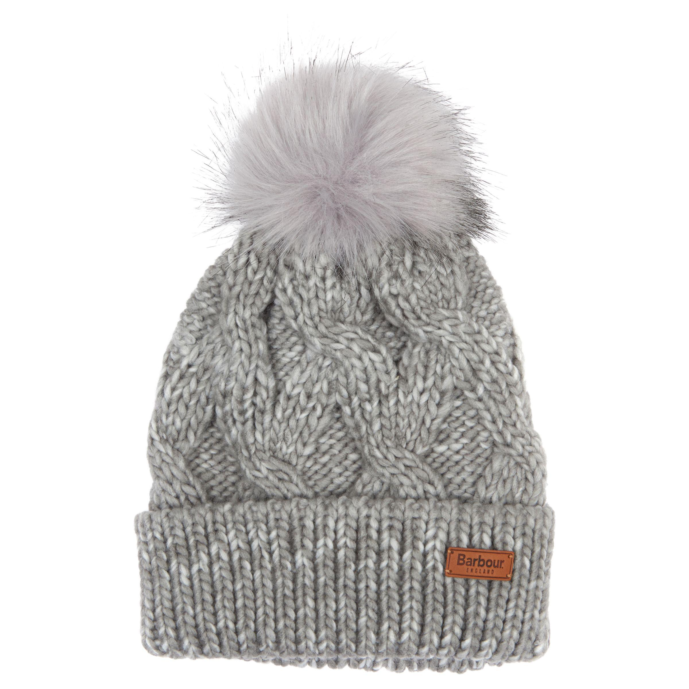 5ad18a2f9d4 Barbour Bridport Pom Beanie Hat in Gray - Lyst