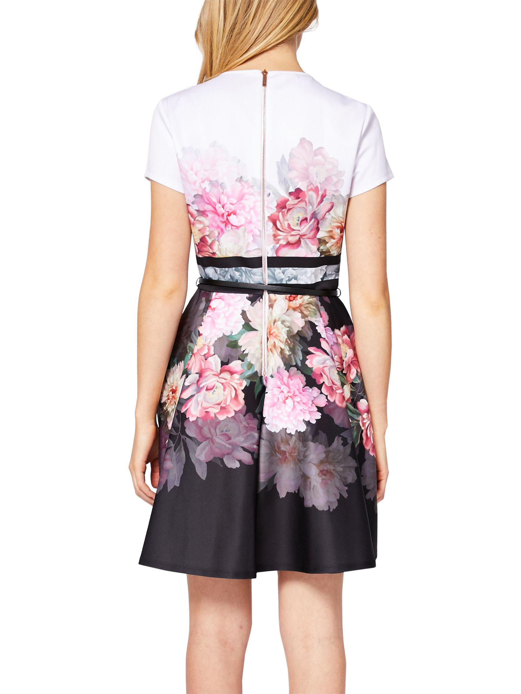 cac0f25f42c5b1 Ted Baker Valerey Painted Posie Skater Dress in Pink - Lyst