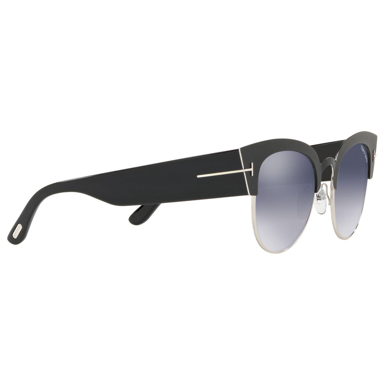 d6c29795342 Tom Ford Ft0607 Women s Alexandra Cat s Eye Sunglasses in Black - Lyst