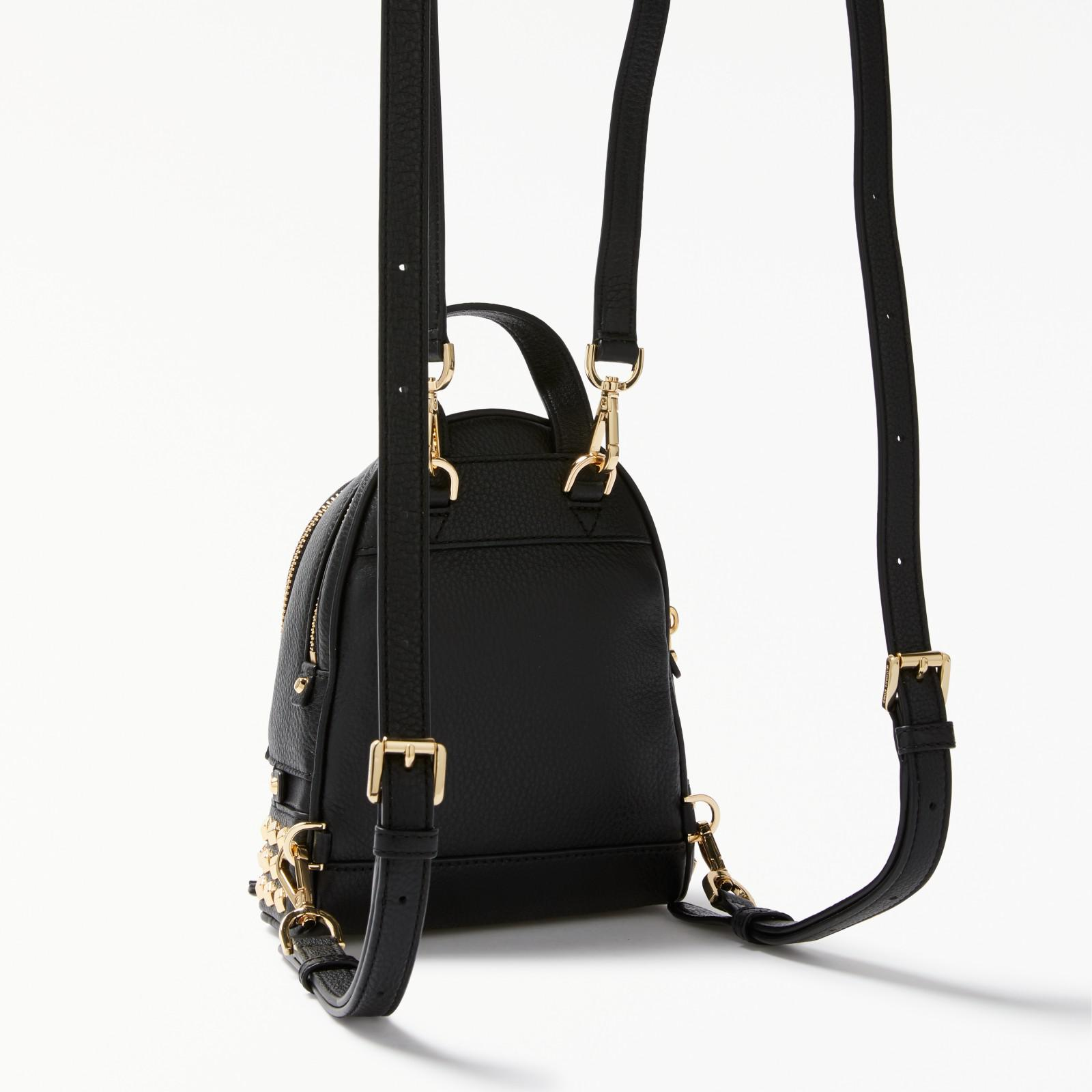 ... coupon for michael michael kors black rhea leather studded extra small  backpack lyst 32dc8 b77b8 94a9845c36