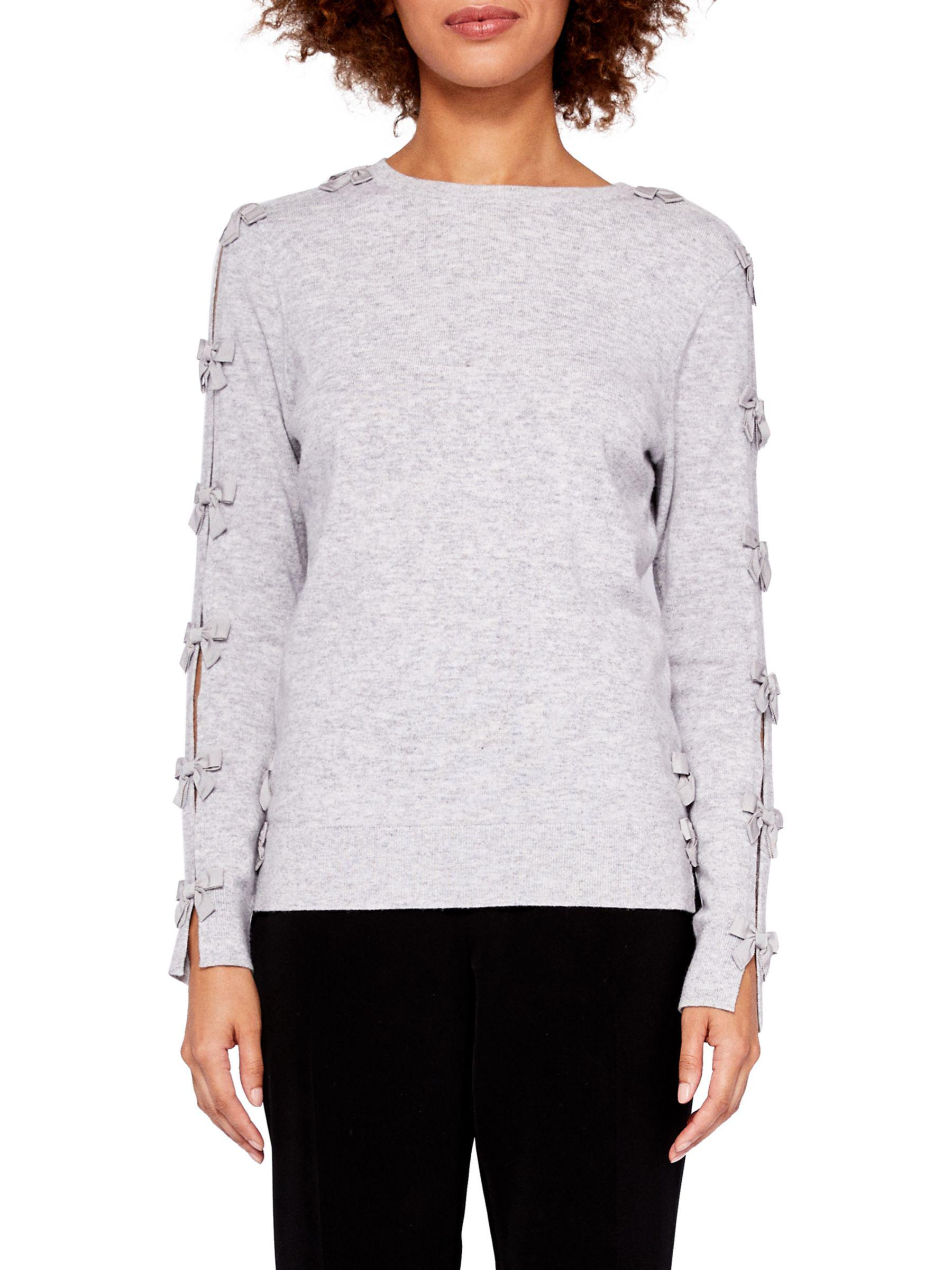 5ee7f7a97367f0 Ted Baker Sakarie Bow Sleeve Jumper in Gray - Lyst