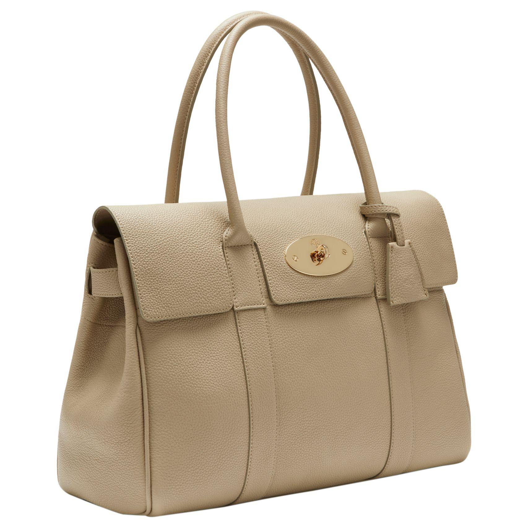 a827b2ca1a John Lewis Mulberry Bayswater Small Classic Grain Leather Grab Bag ...